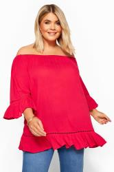 Red Bardot Gypsy Top