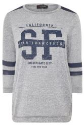 Sweatshirt im College-Stil - Grau