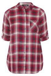 Red & White Check Boyfriend Shirt