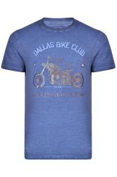 KAM Blue 'Dallas Bike Club' T-Shirt