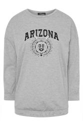 LIMITED COLLECTION - Sweatshirt met 'Arizona' slogan in gemêleerd grijs