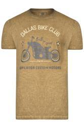 KAM Khaki 'Dallas Bike Club' T-Shirt