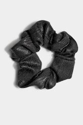 Black Metallic Scrunchie