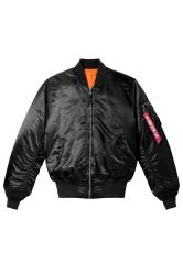 ALPHA INDUSTRIES Black MA-1 Bomber Jacket