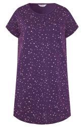 Purple Star Pocket Placket Nightdress