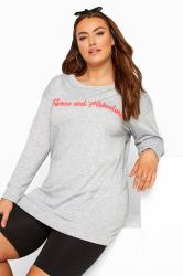Grey 'Fierce & Fabulous' Slogan Sweatshirt
