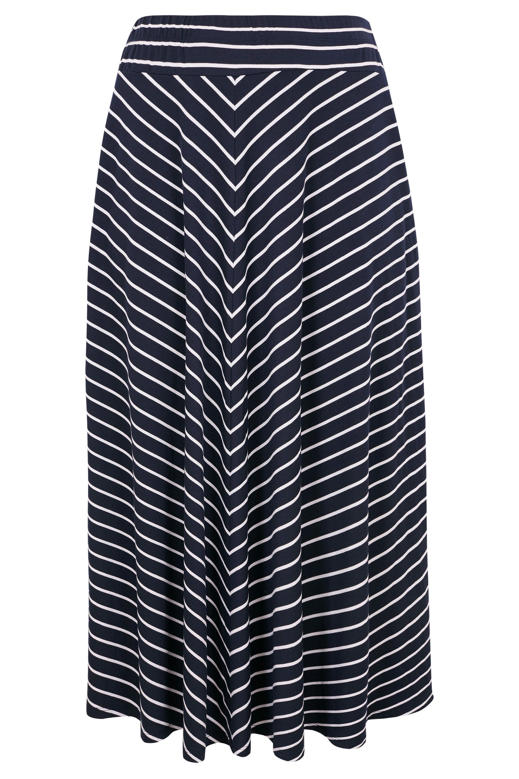 dependable performance unequal in performance matching in colour Navy & White Striped Maxi Skirt