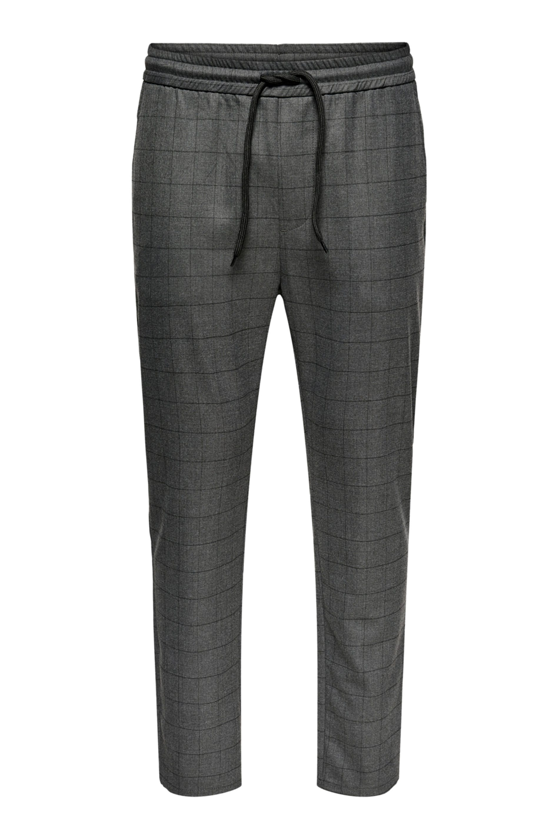 ONLY & SONS Grey Check Trousers
