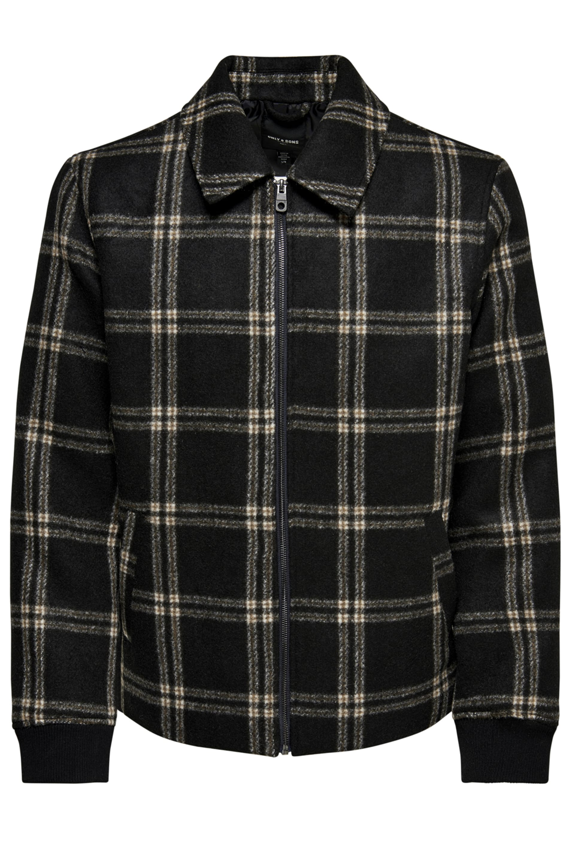 ONLY & SONS Brown Check Brushed Flannel Jacket
