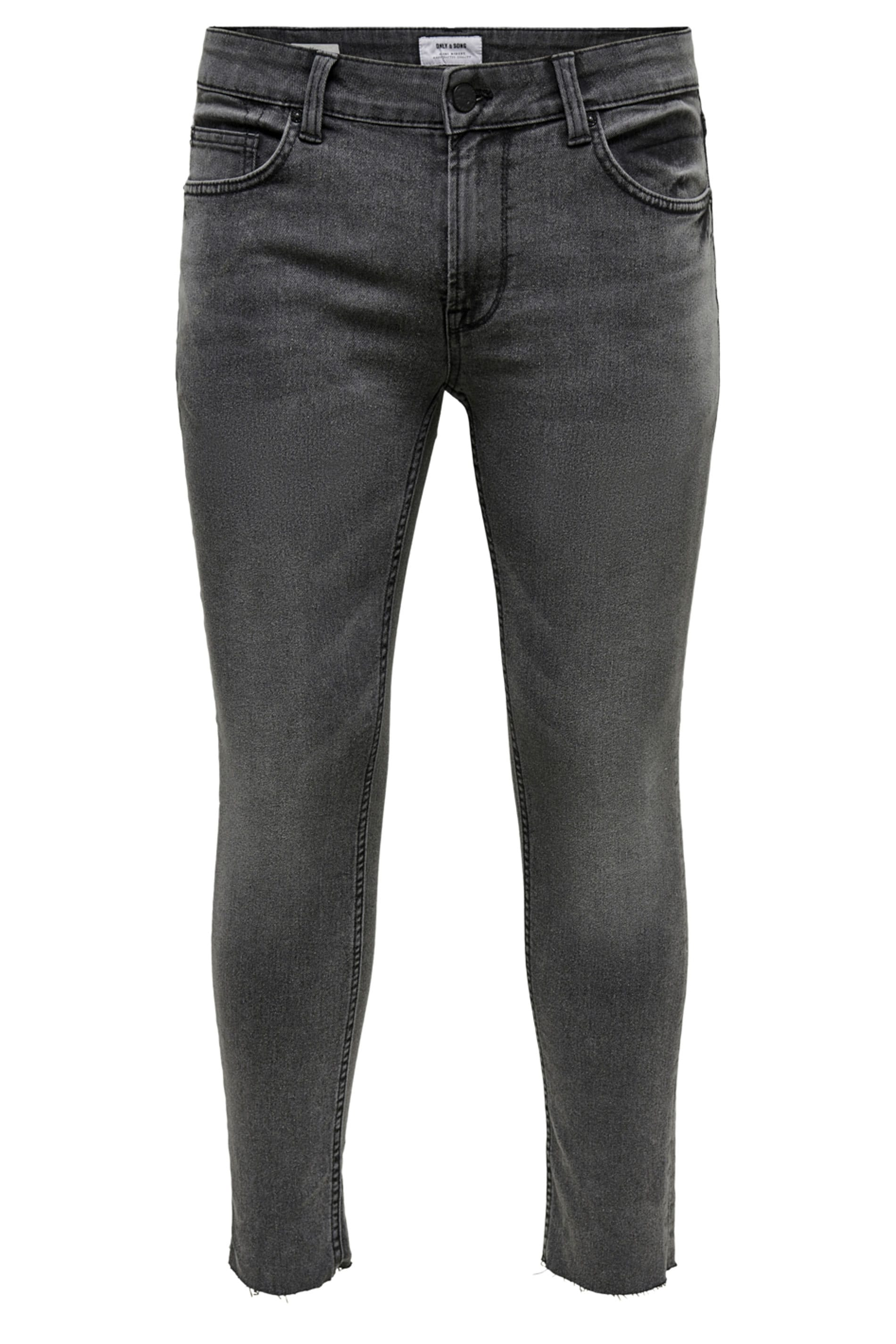 ONLY & SONS Black Crop Skinny Fit Jeans