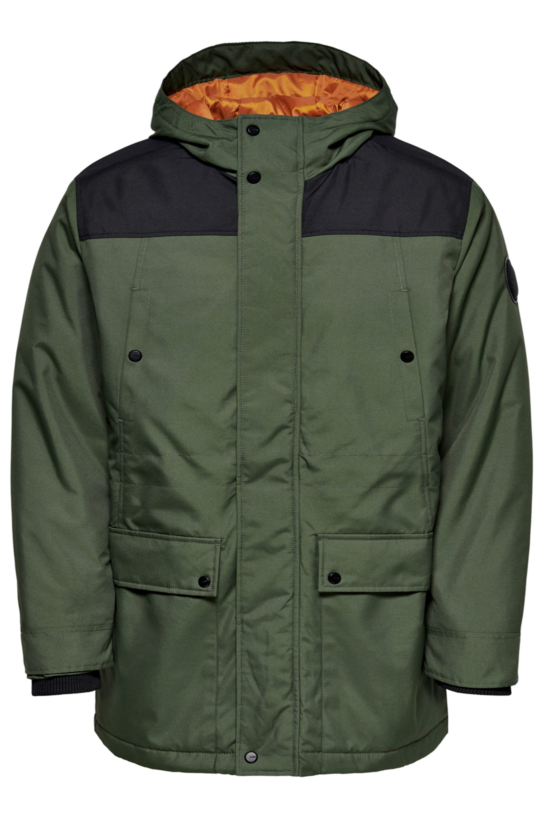 ONLY & SONS Khaki Peter Parka Coat