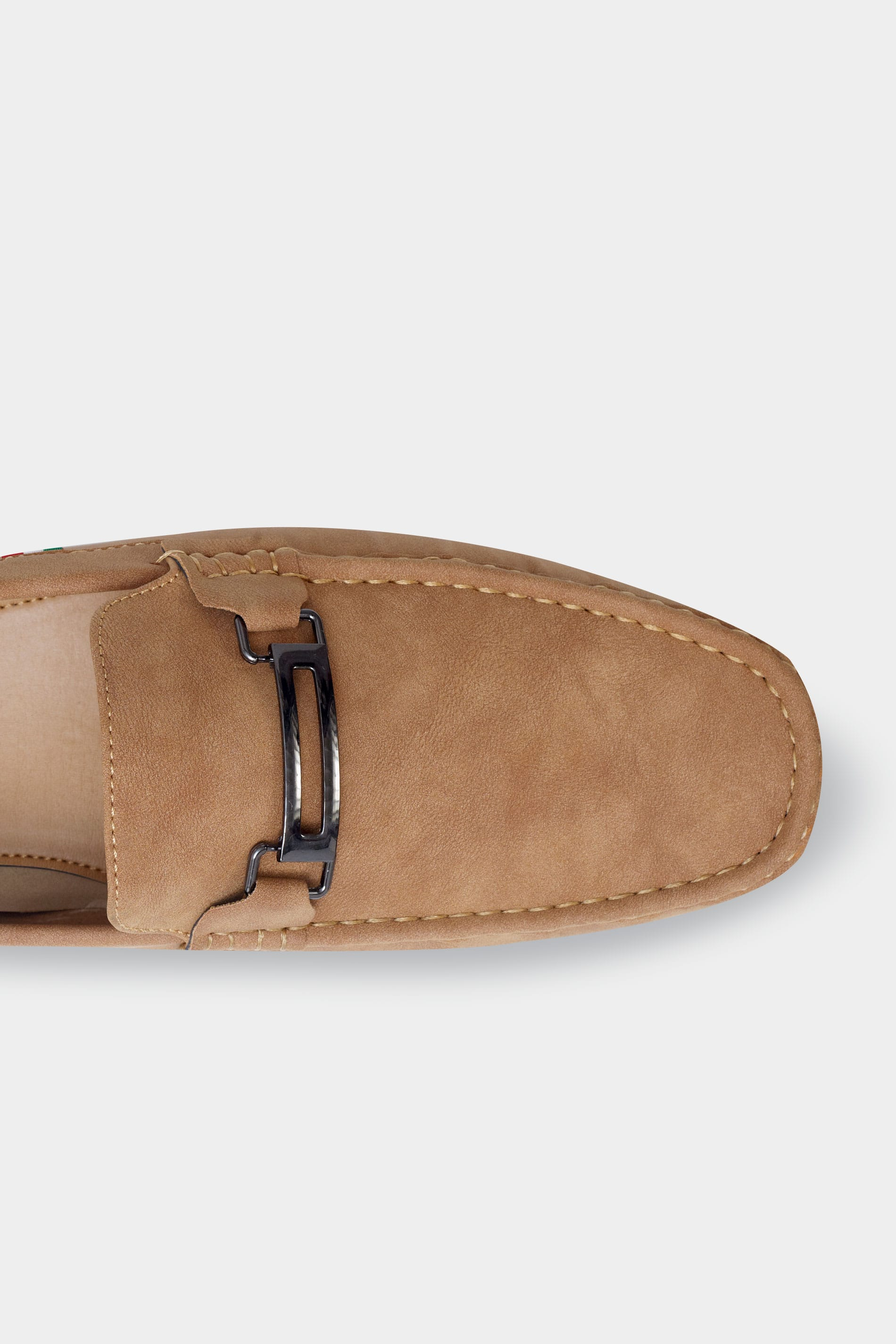 D555 Brown Slip On Moccasin Loafers
