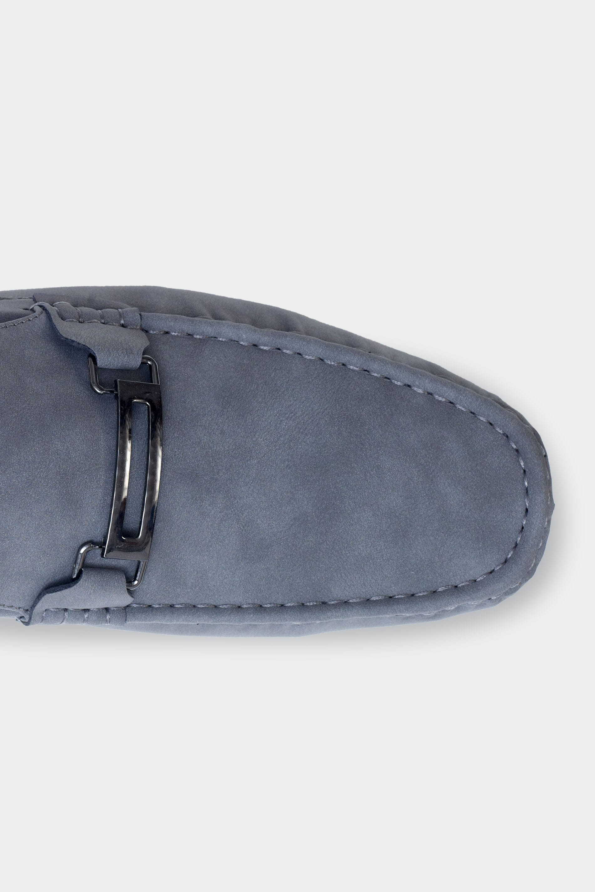 D555 Grey Slip On Moccasin Loafers
