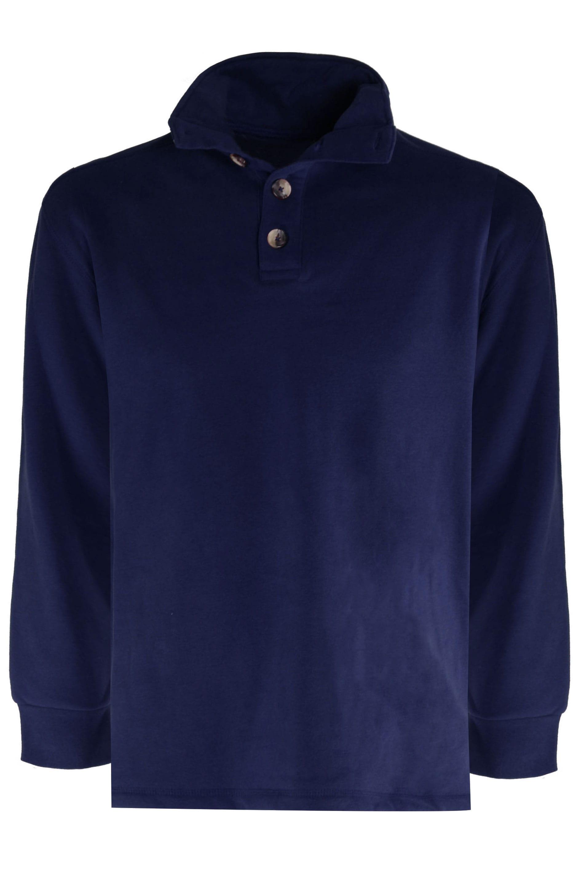 OLD SALT Navy Funnel Button Sweatshirt