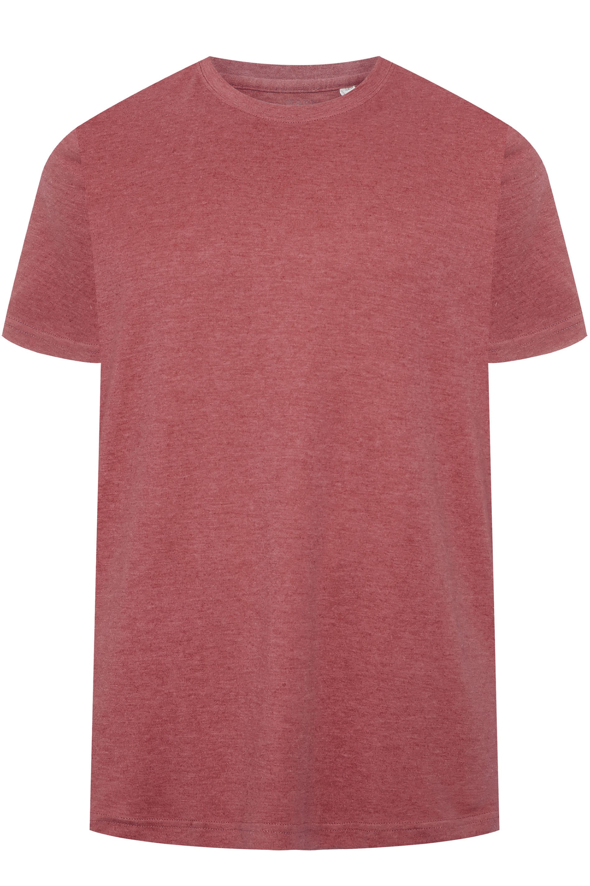 BAR HARBOUR Red Marl Plain Crew Neck T-Shirt