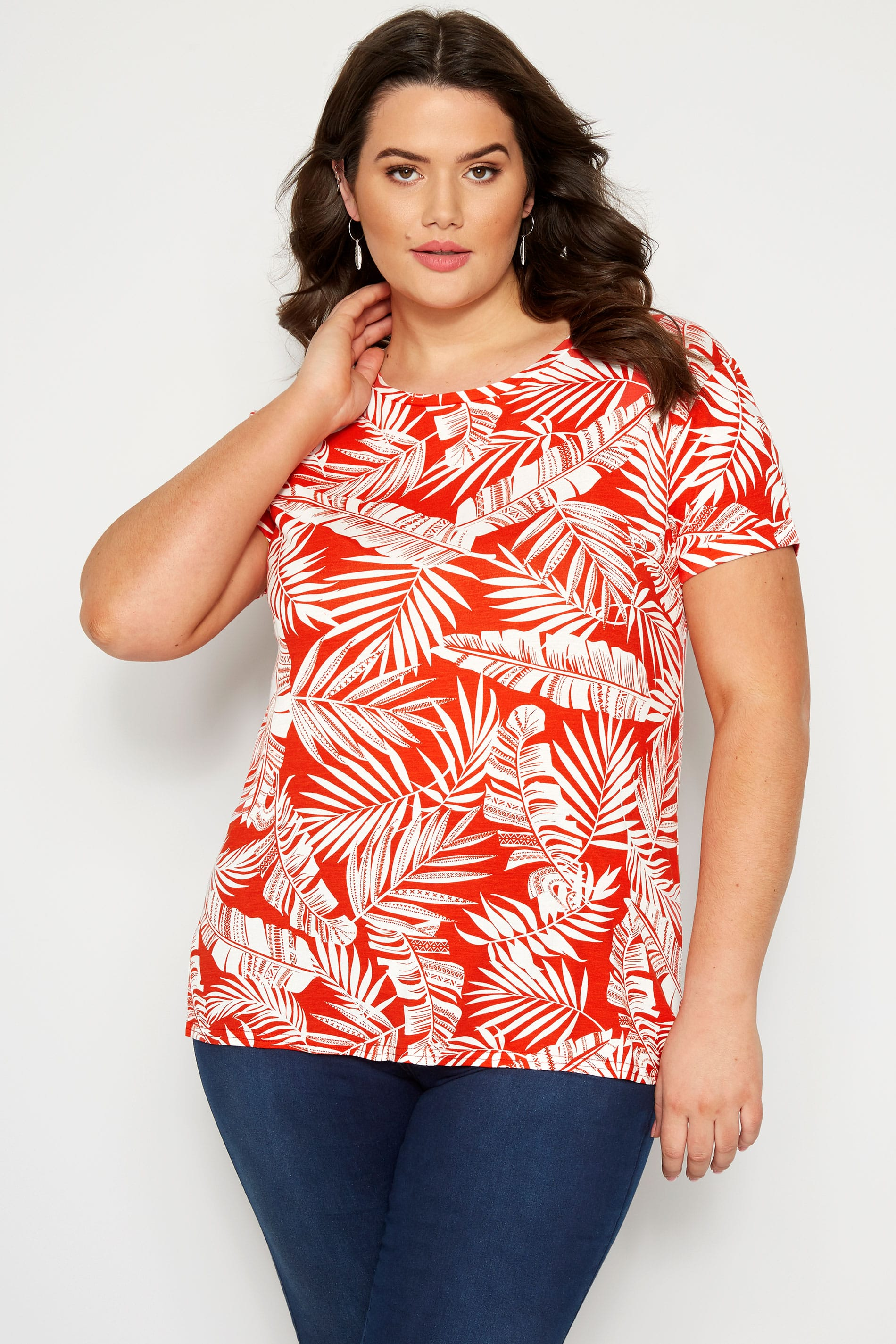Orange Palm Leaf T-Shirt