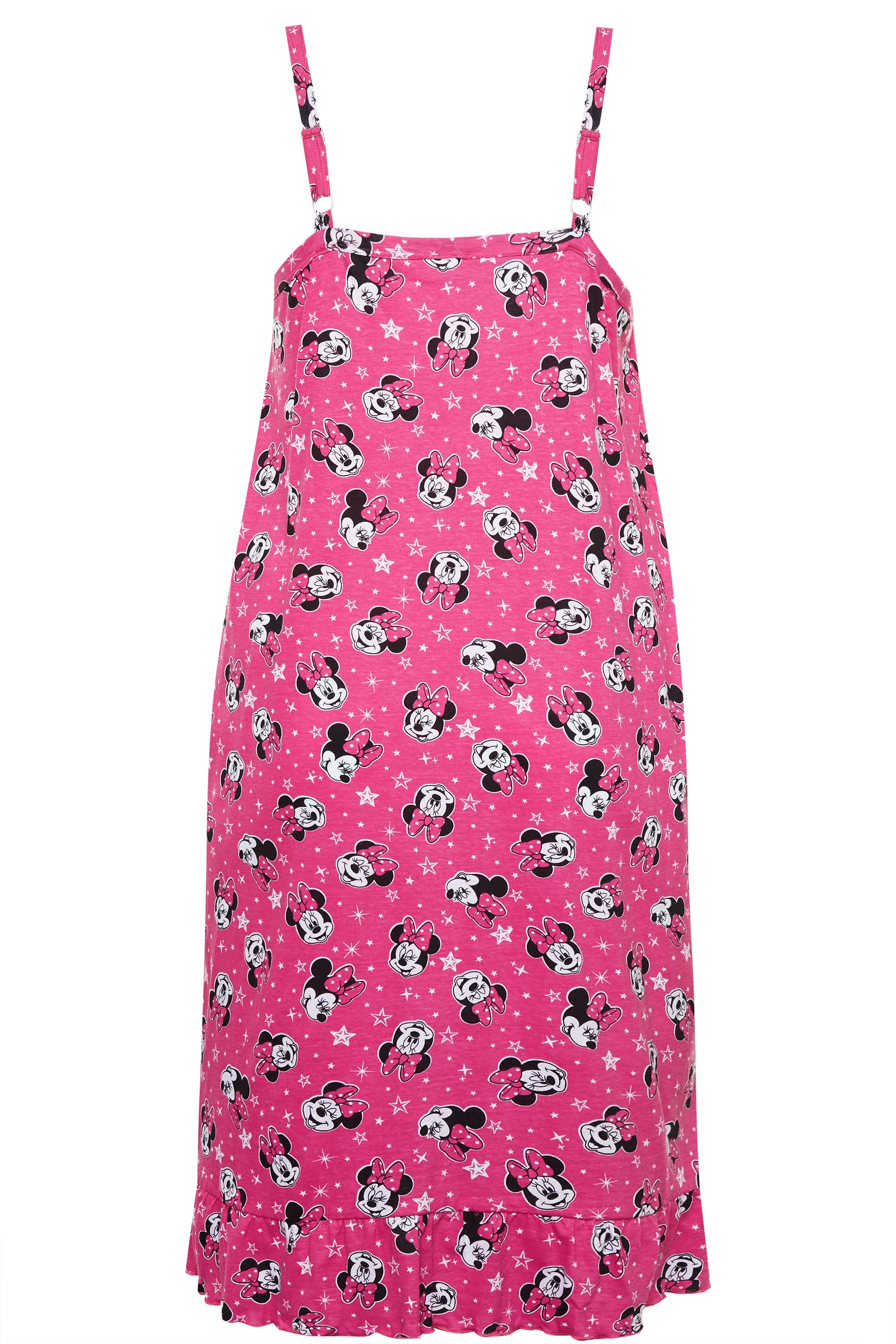 Różowa koszula nocna z Myszką Minnie, Disney, damskie duże