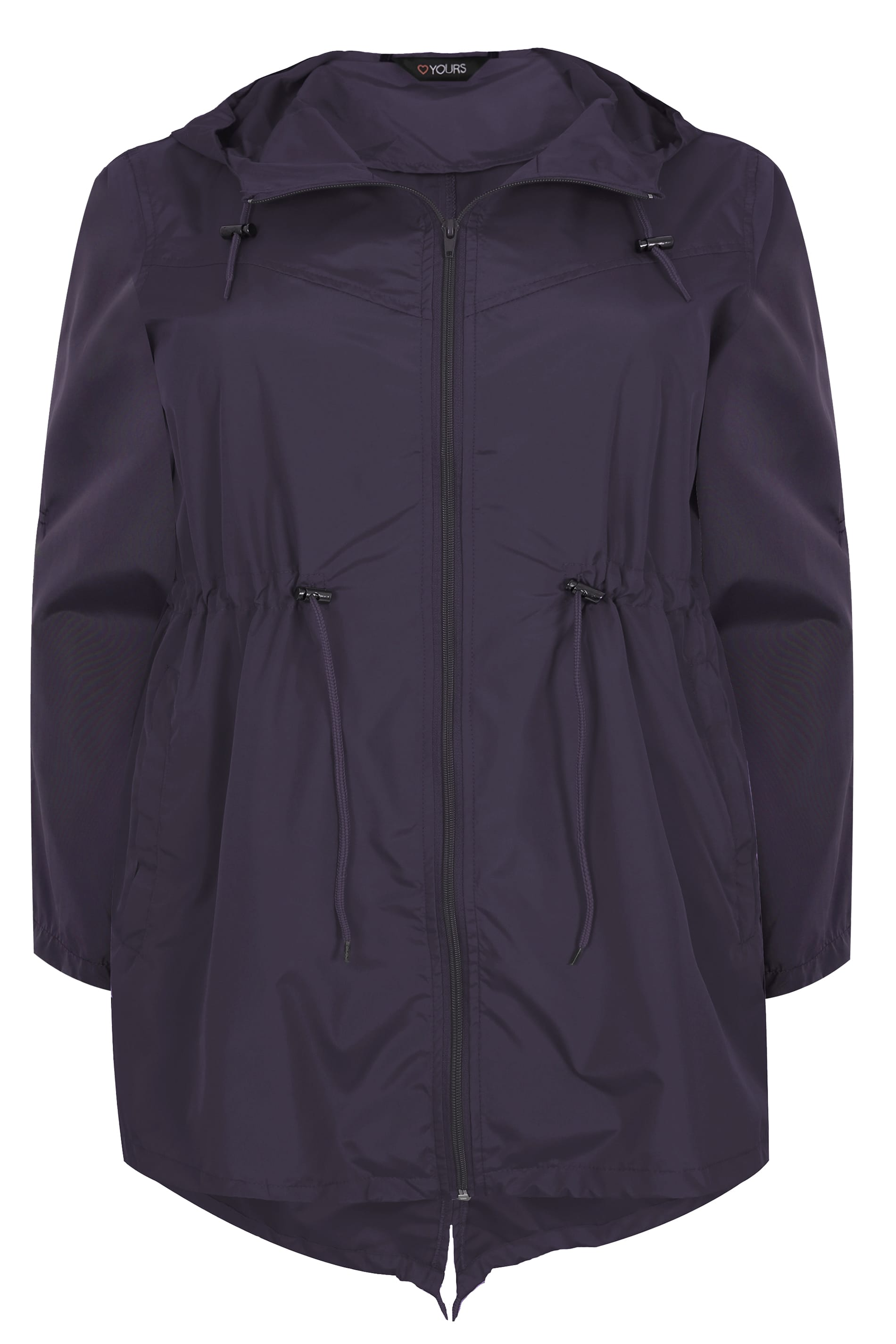 Fioletowa kurtka parka kieszonkowa