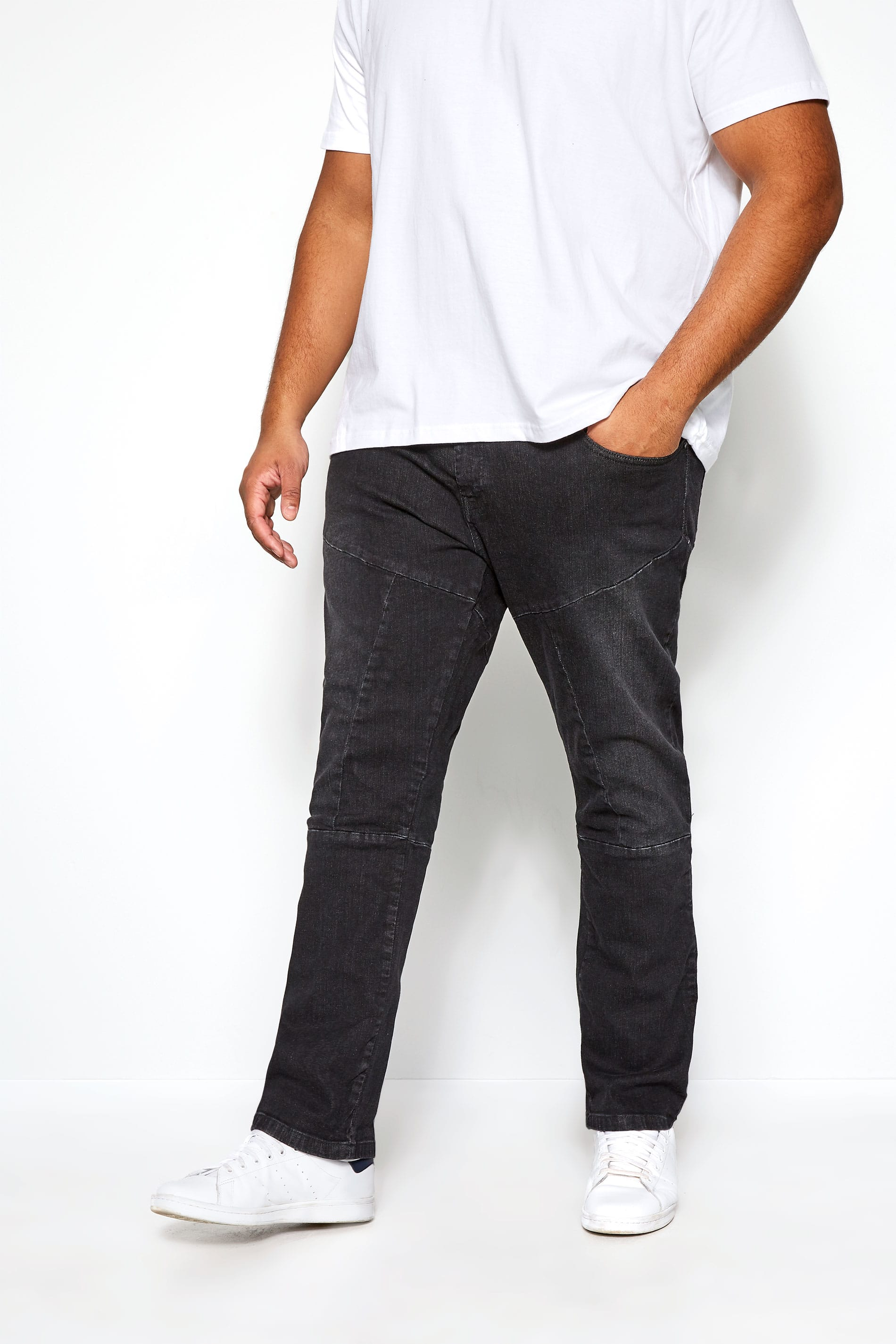 RAWCRAFT Blackwash Straight Leg Jeans
