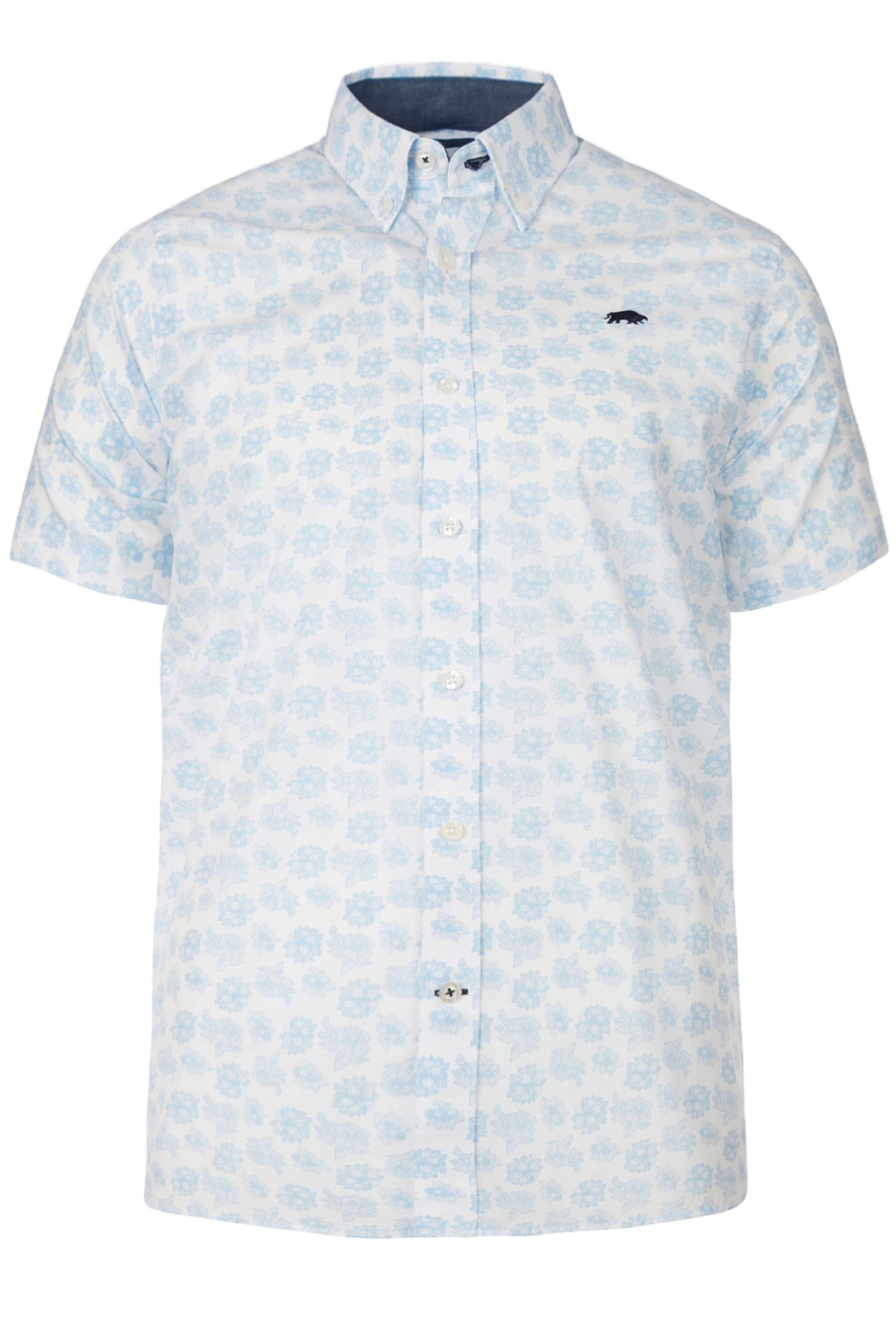 RAGING BULL White Floral Shirt