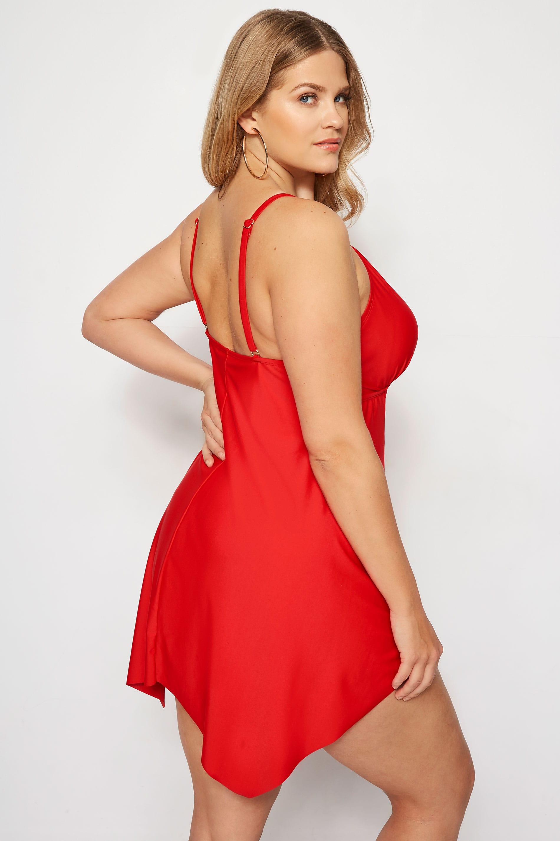 size 40 ea8a2 08e37 Badekleid - Rot mit Perlen