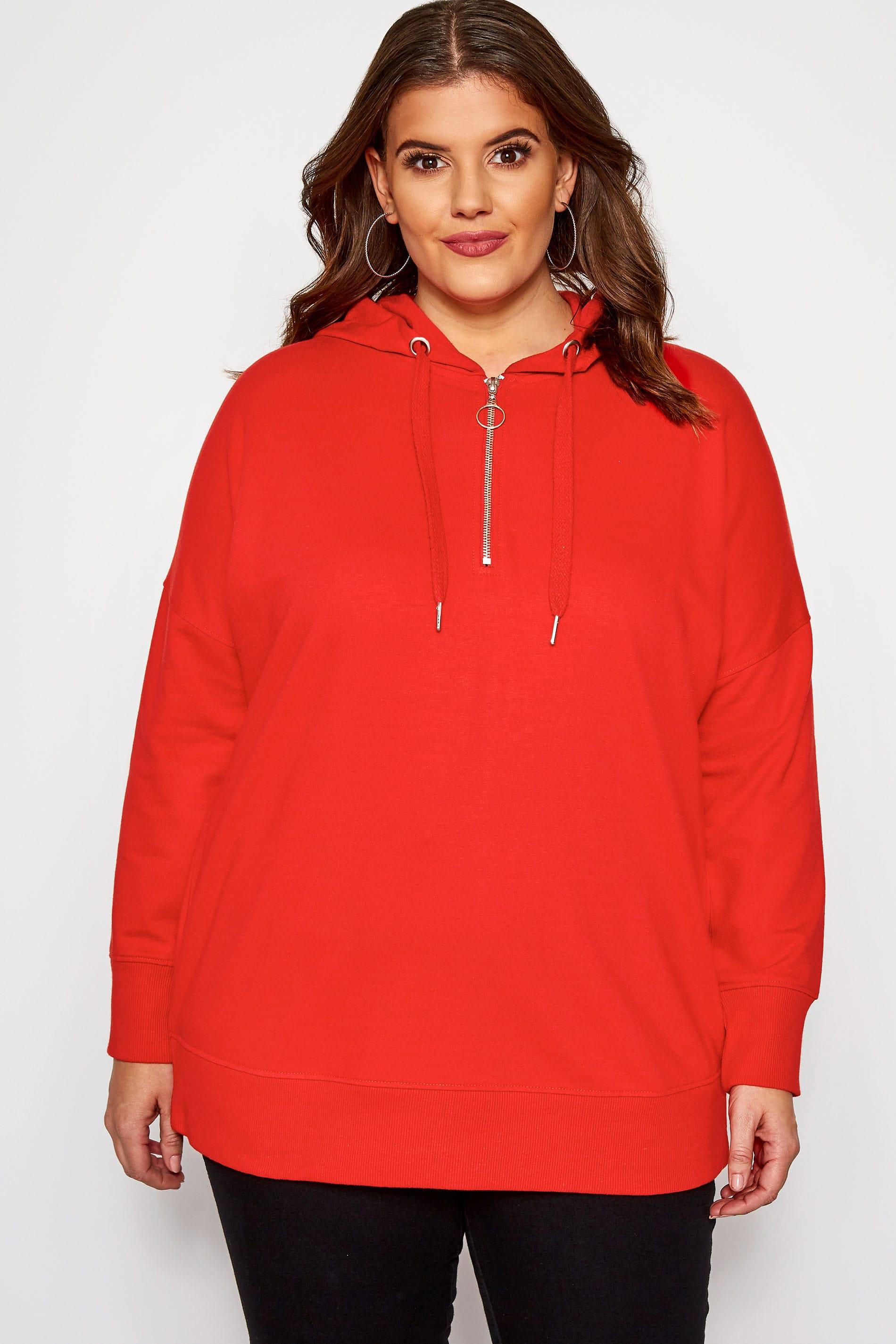 Sudadera roja con capucha