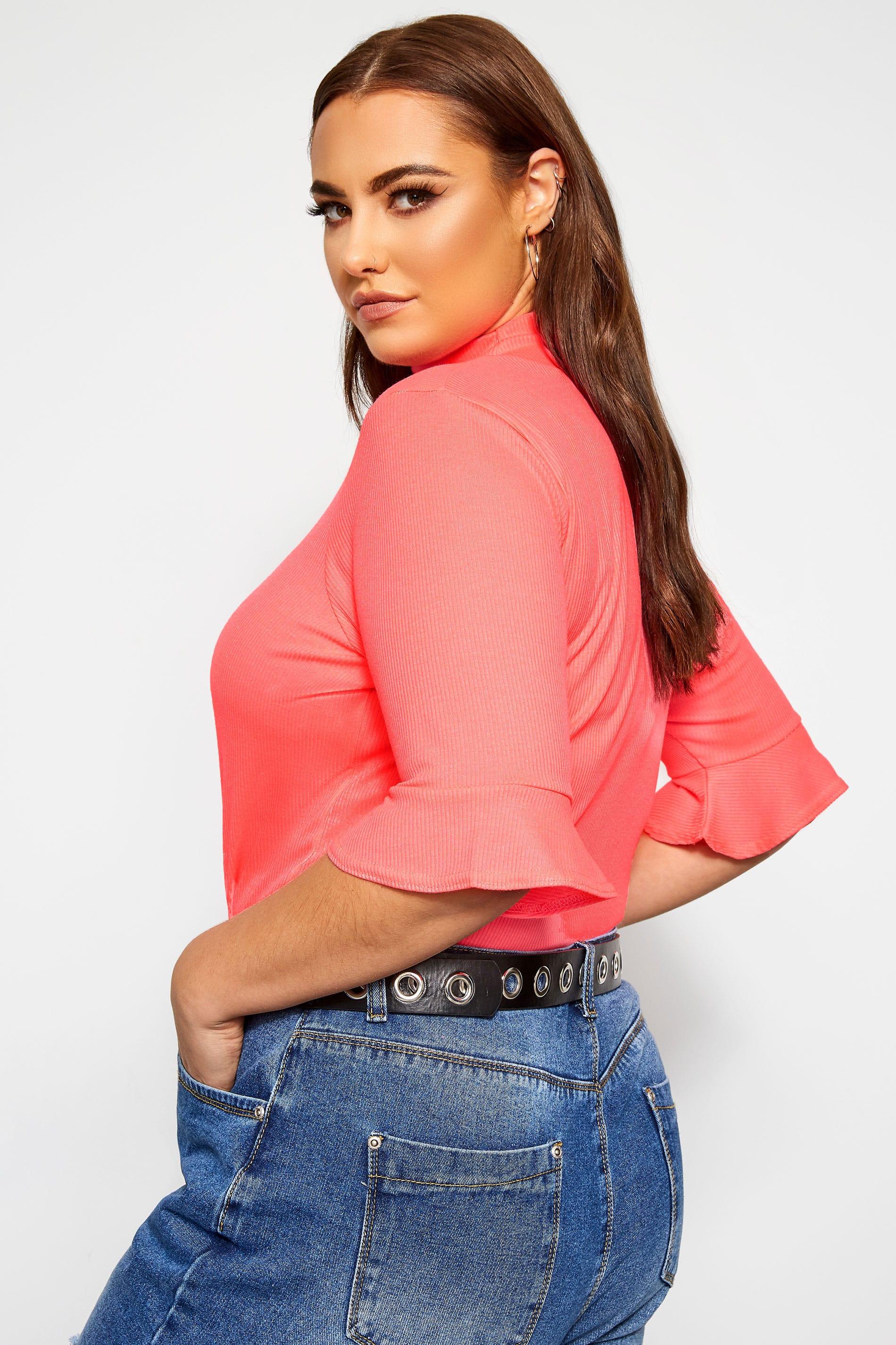 KIDPIK Crop Top for Girls - 80s Neon Pink & Rose Scuba Cute Shirt-: Amazon.ca: Clothing