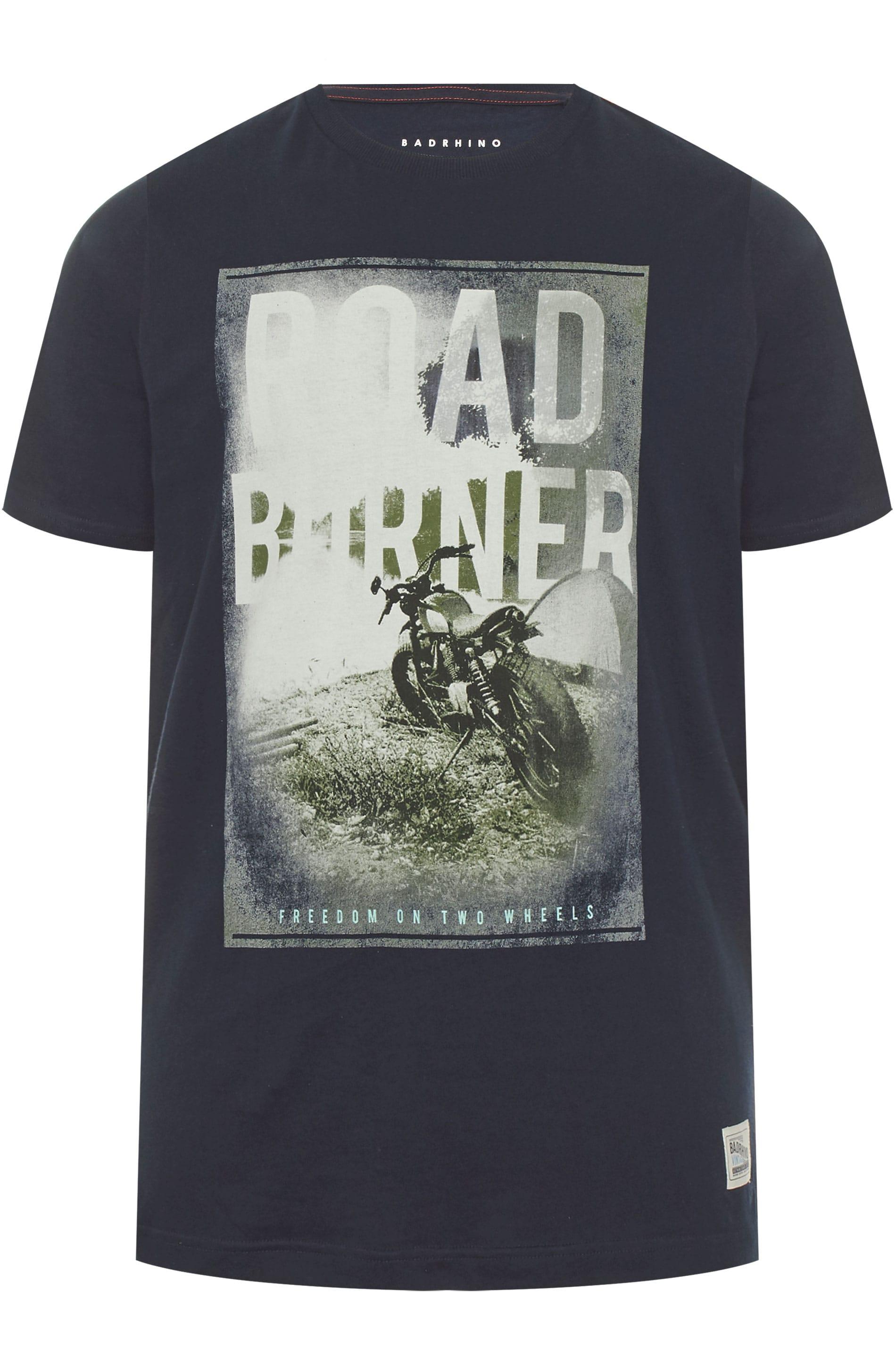 BadRhino Navy 'Road Burner' Graphic T-Shirt
