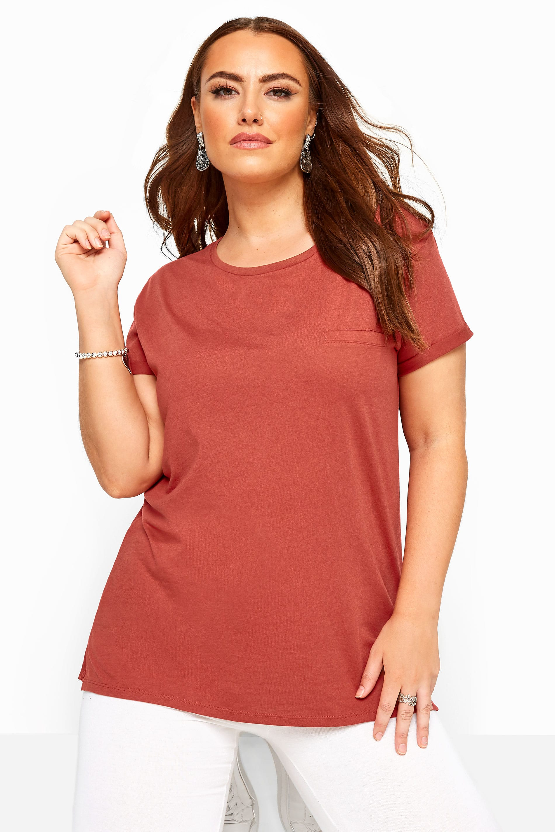 Rust Mock Pocket T-Shirt