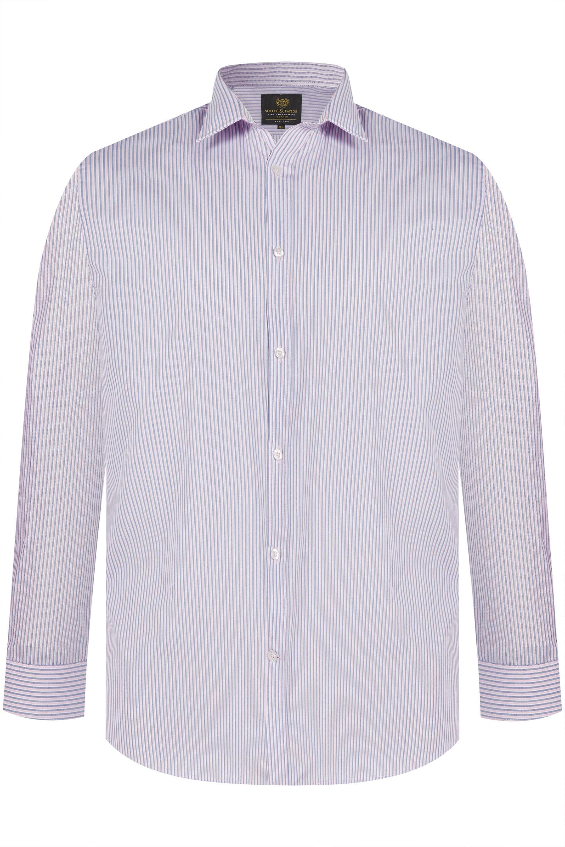 SCOTT & TAYLOR Hemd aus Streifenstoff - Pink/Navy