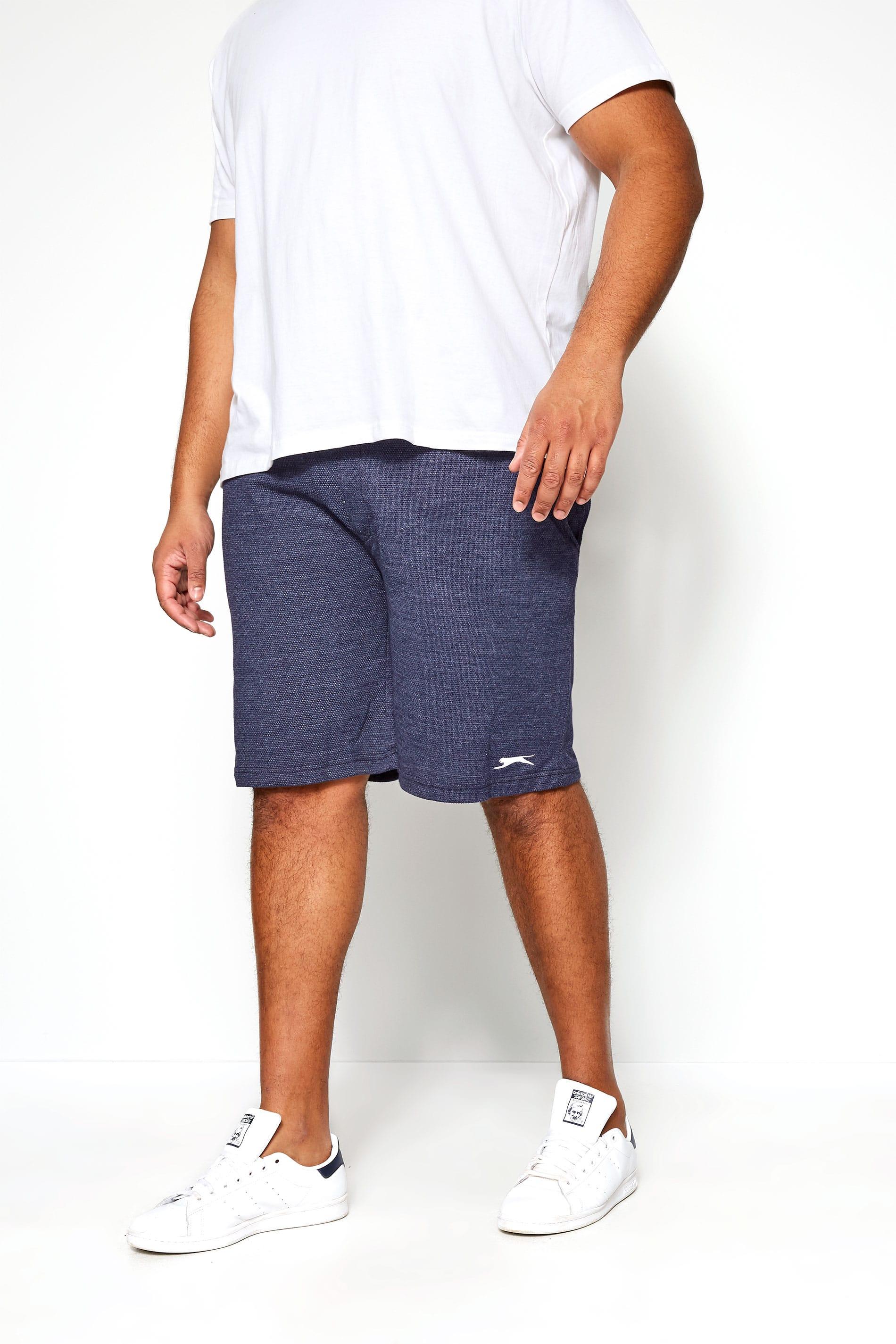 SLAZENGER Navy Textured Jogger Shorts