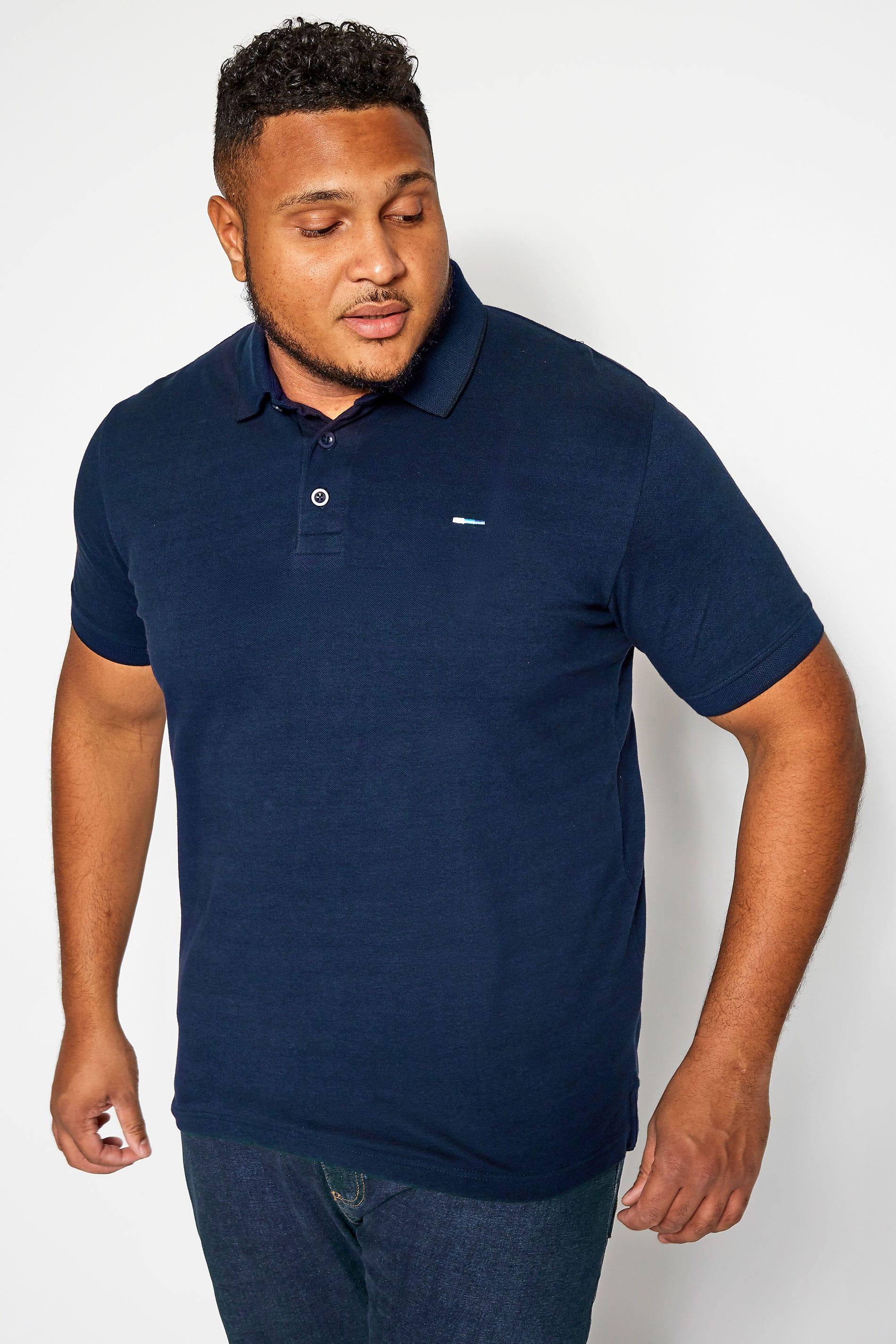 BadRhino Petrol Blue Birdseye Polo Shirt
