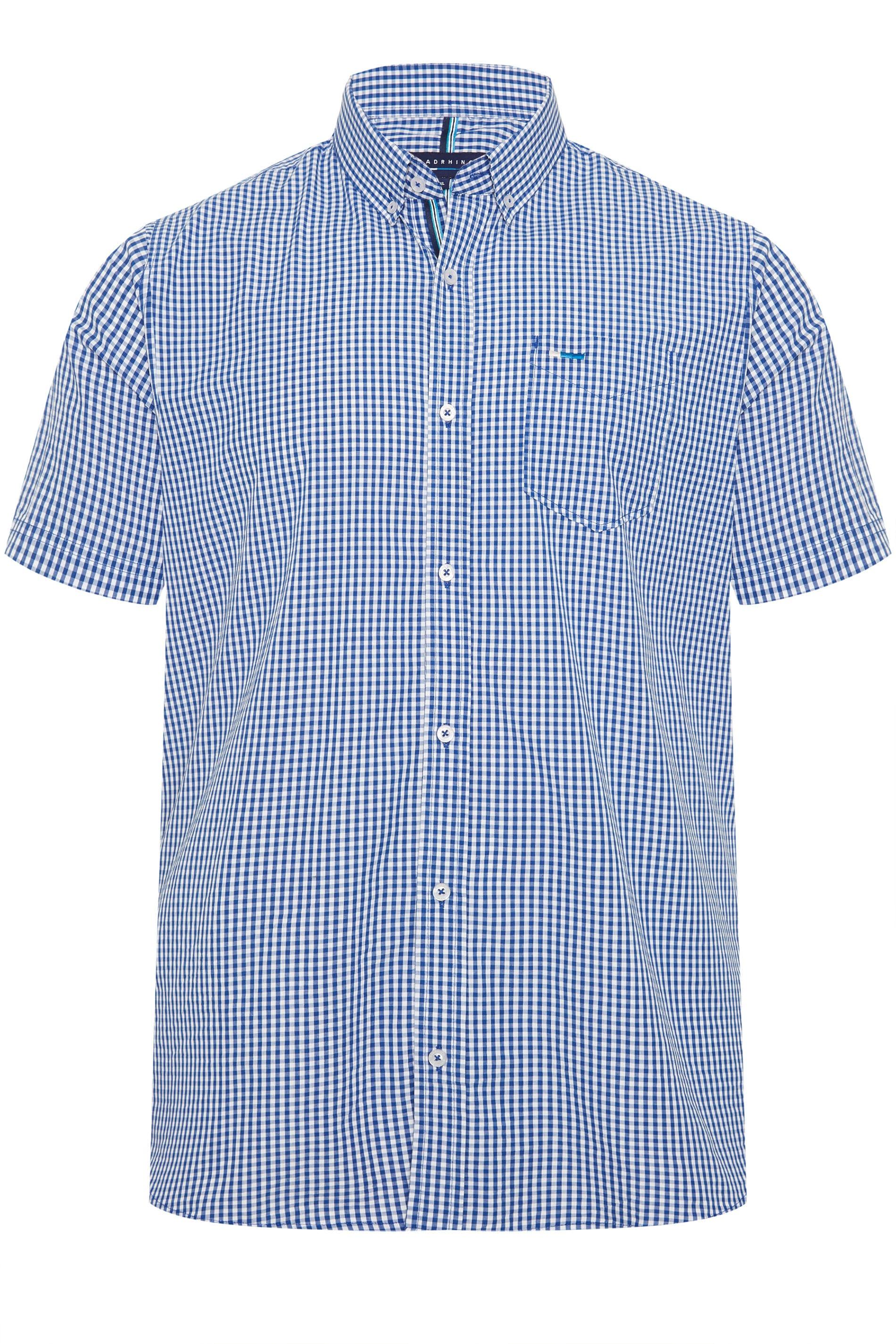 BadRhino Blue Gingham Check Shirt
