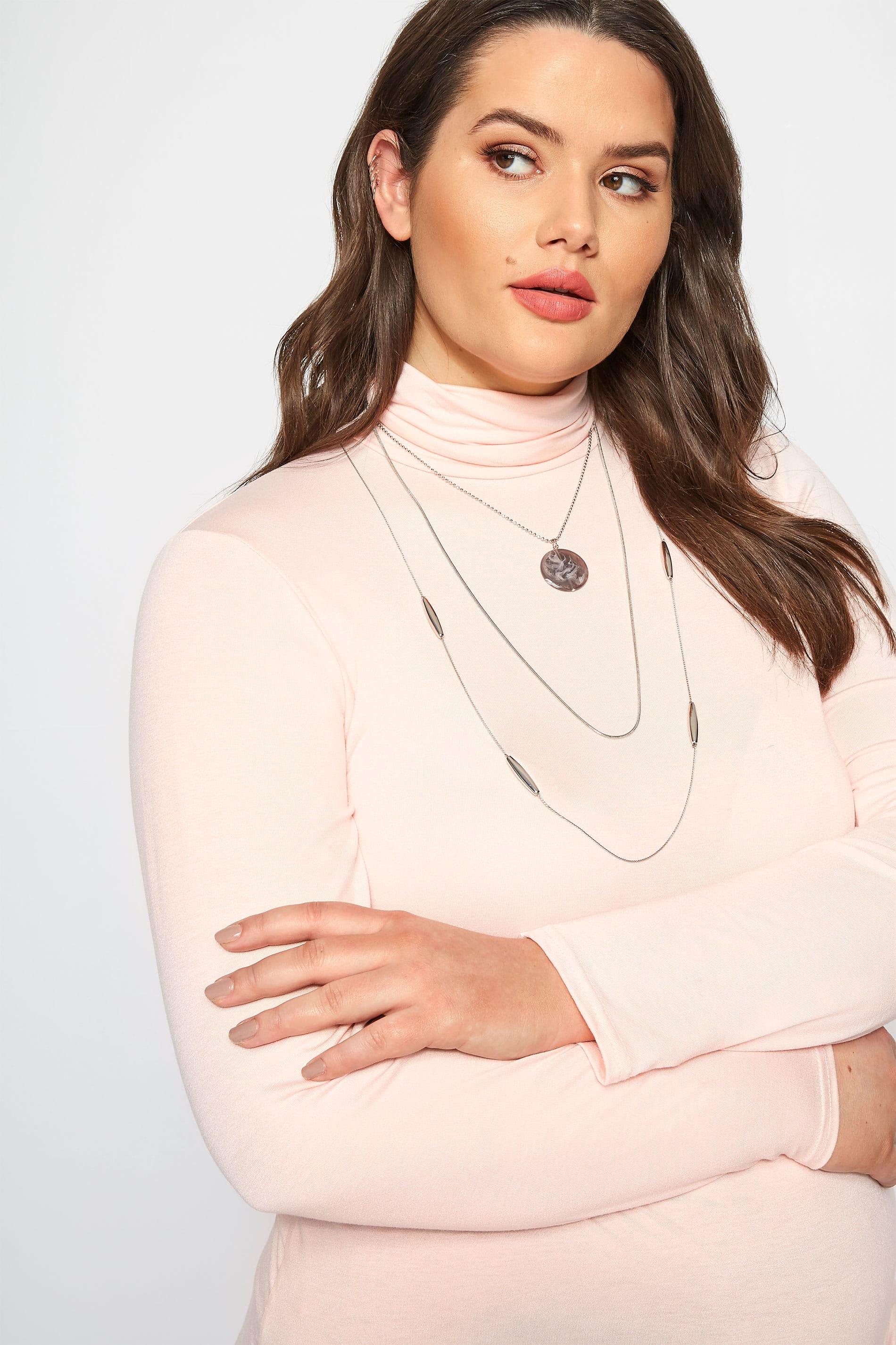 Triple collar plateado