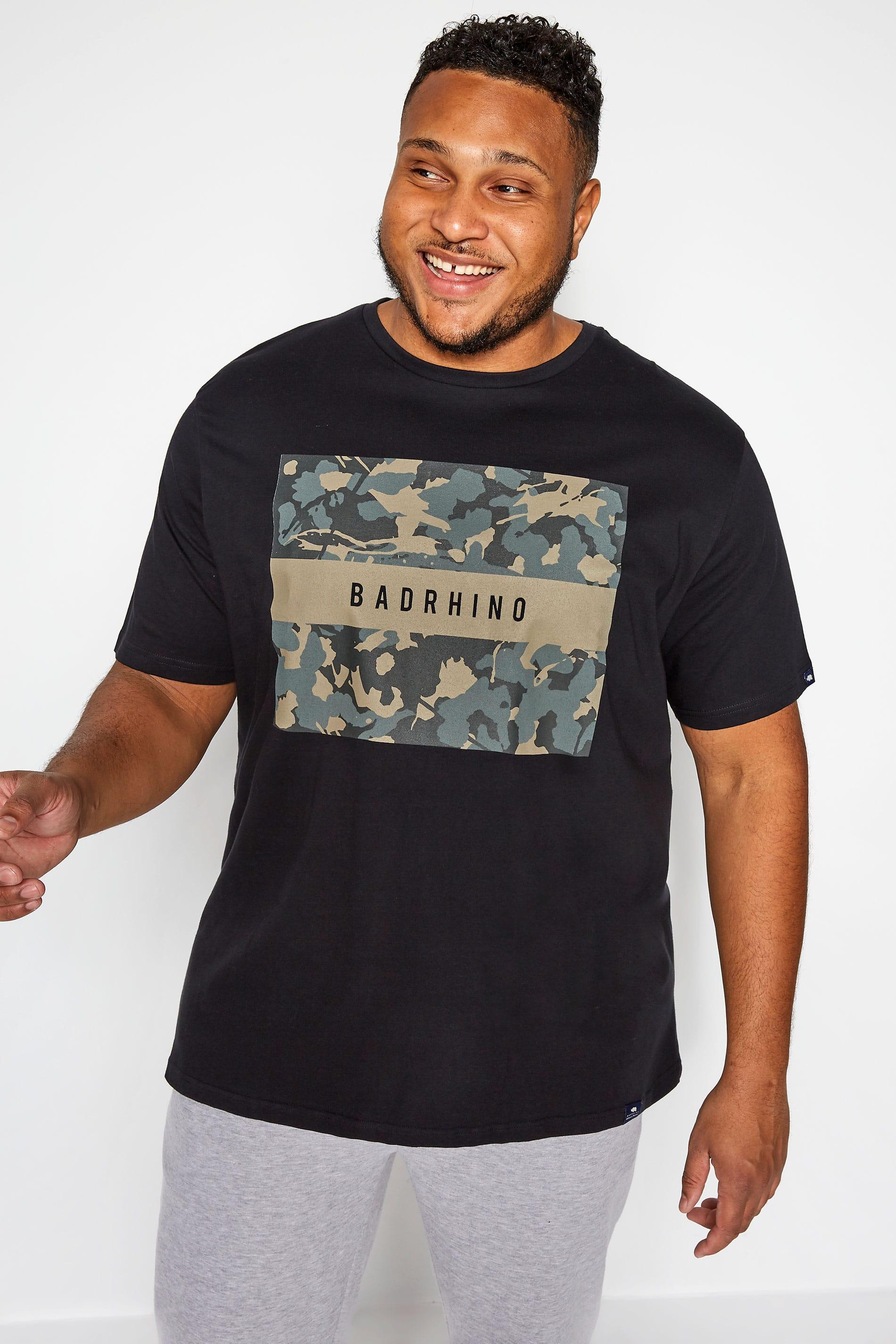 BadRhino Black Camo Graphic Print T-Shirt