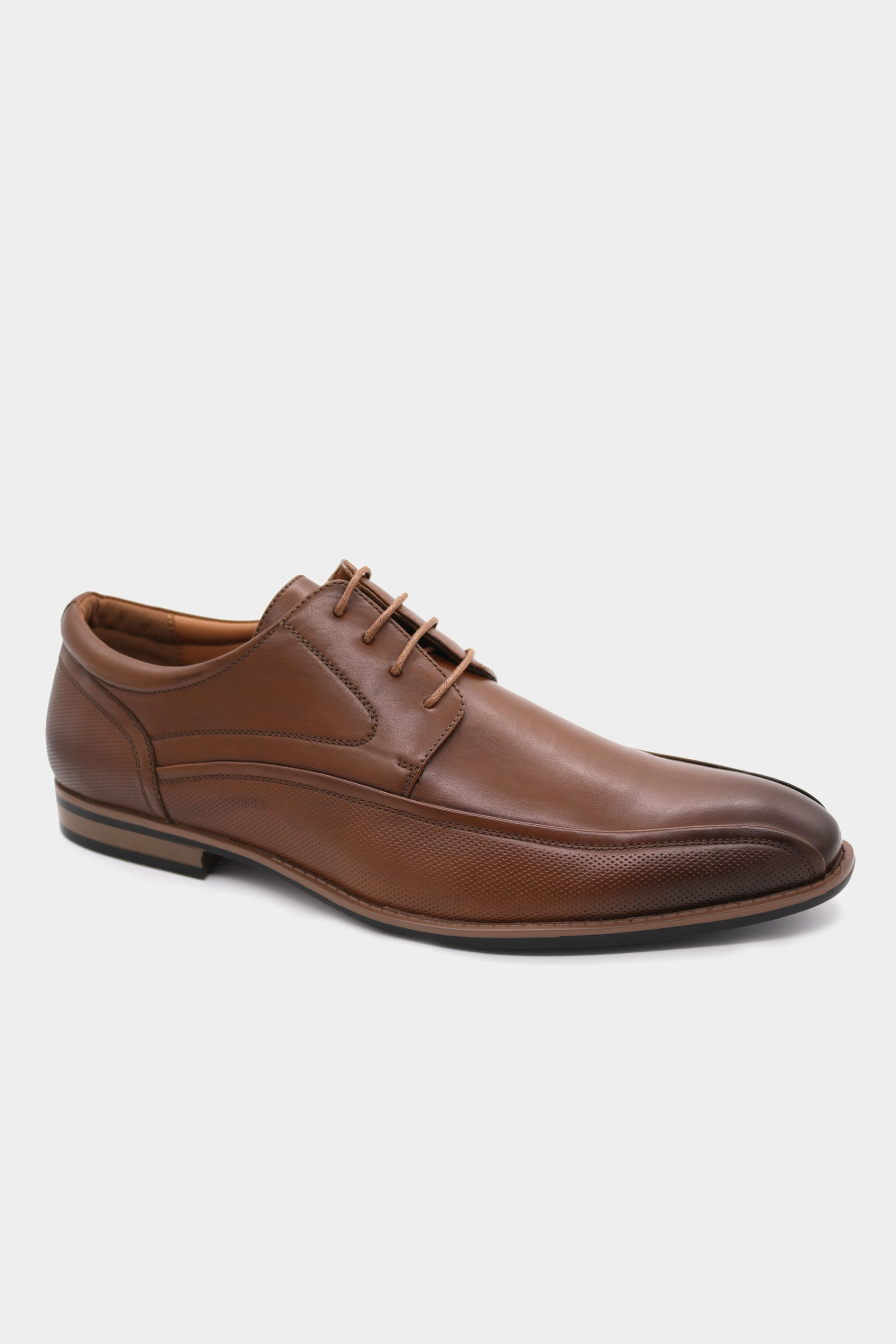 D555 Brown Formal Derby Shoe