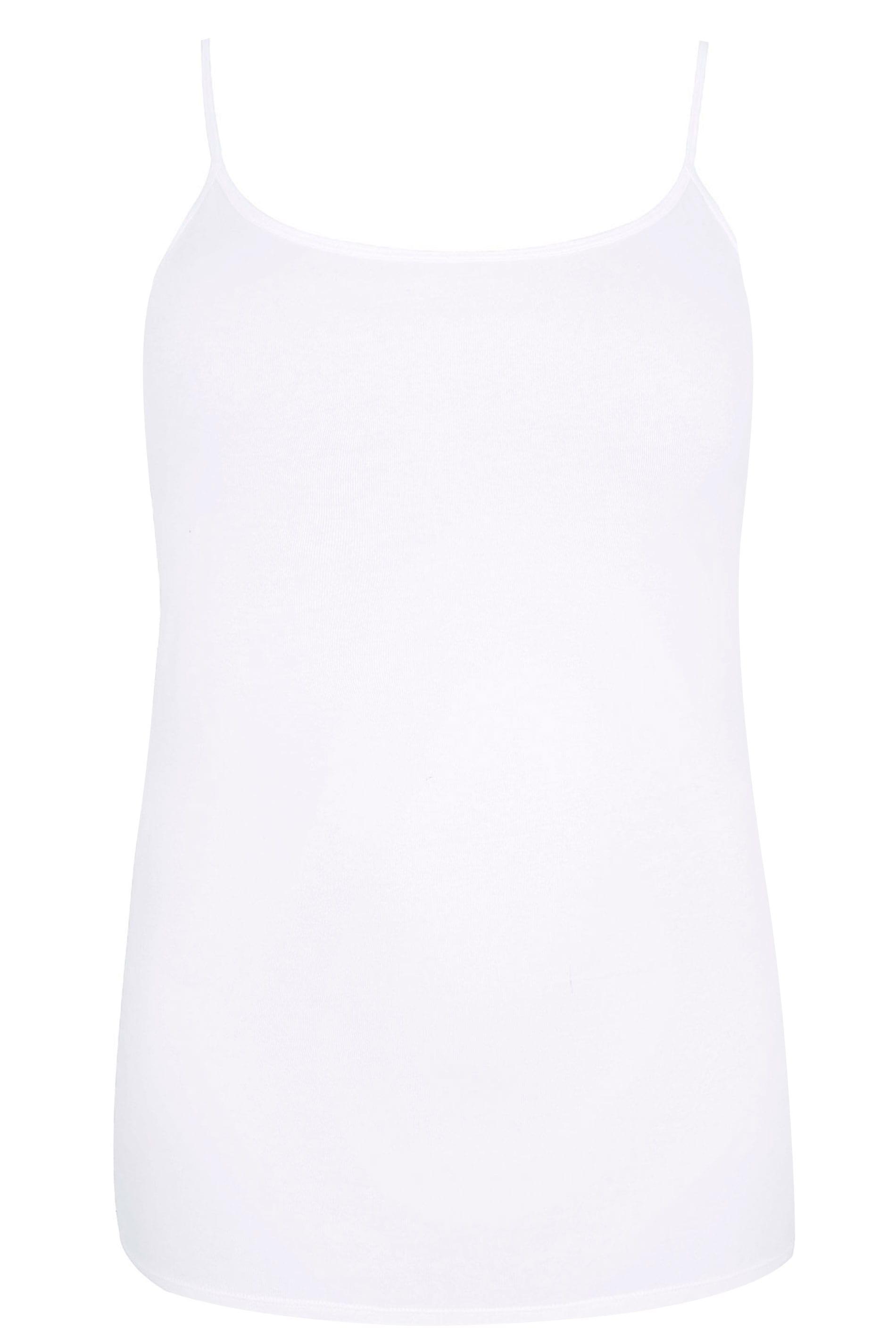 Black Cami Vest Top, Plus size 16 to 36