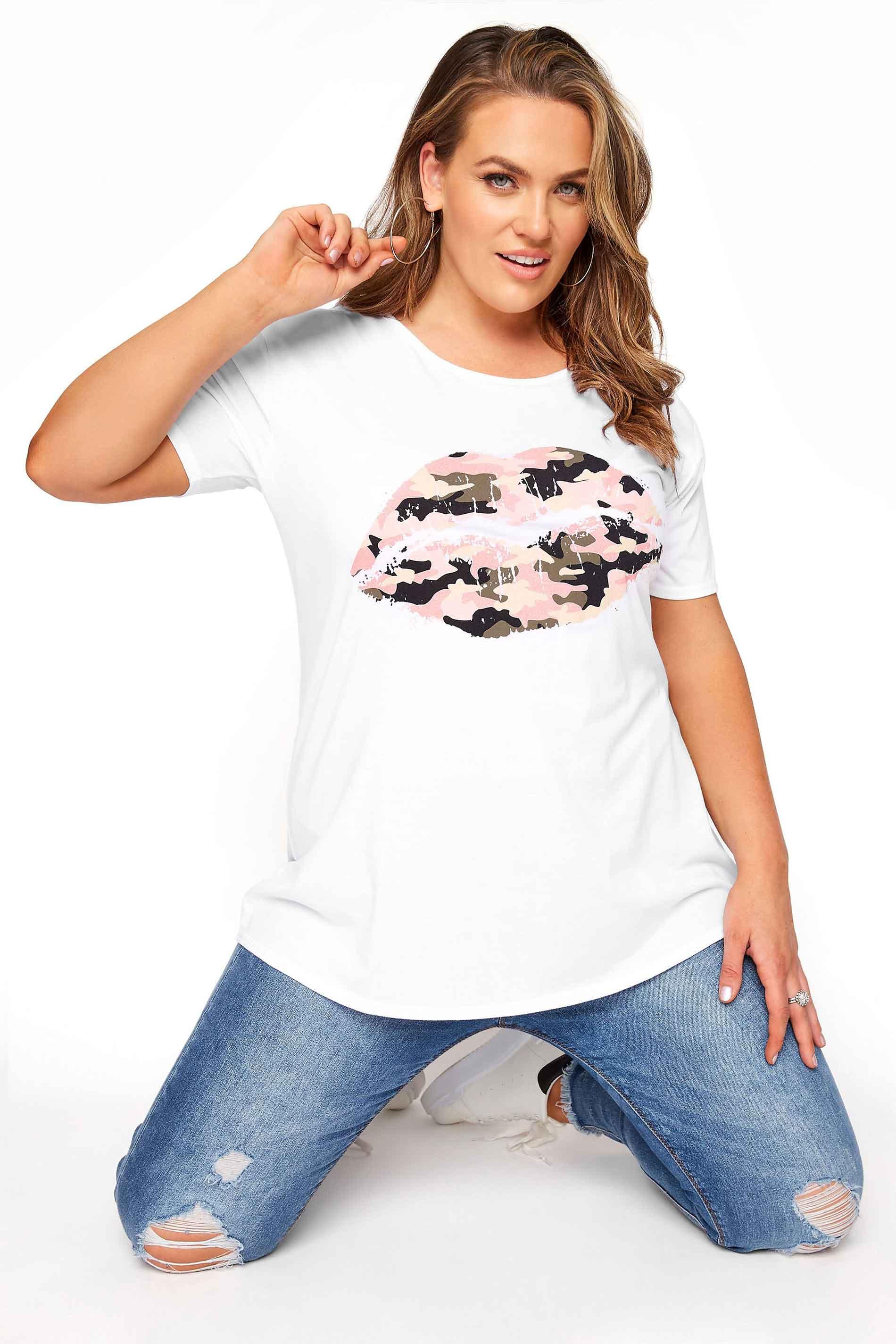 White Camo Lips Boyfriend T-Shirt_f937.jpg
