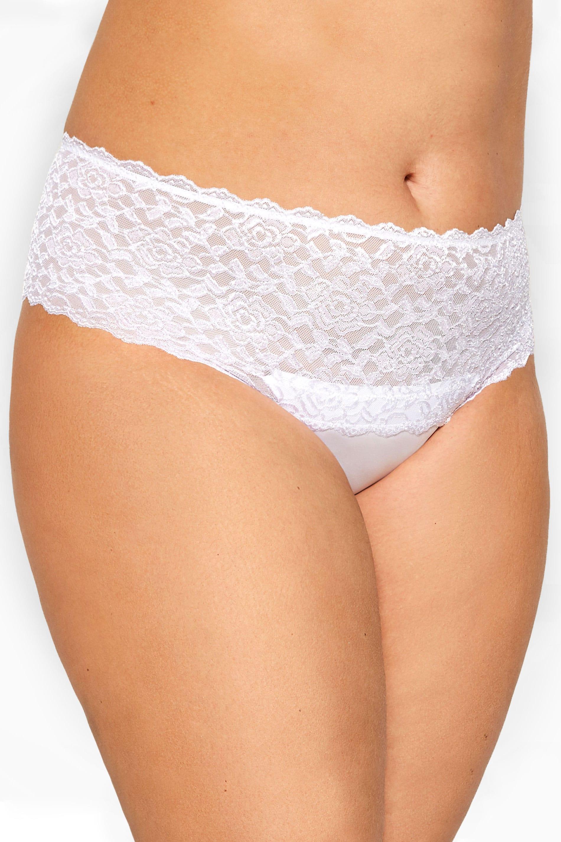 White Lace Brazilian Briefs