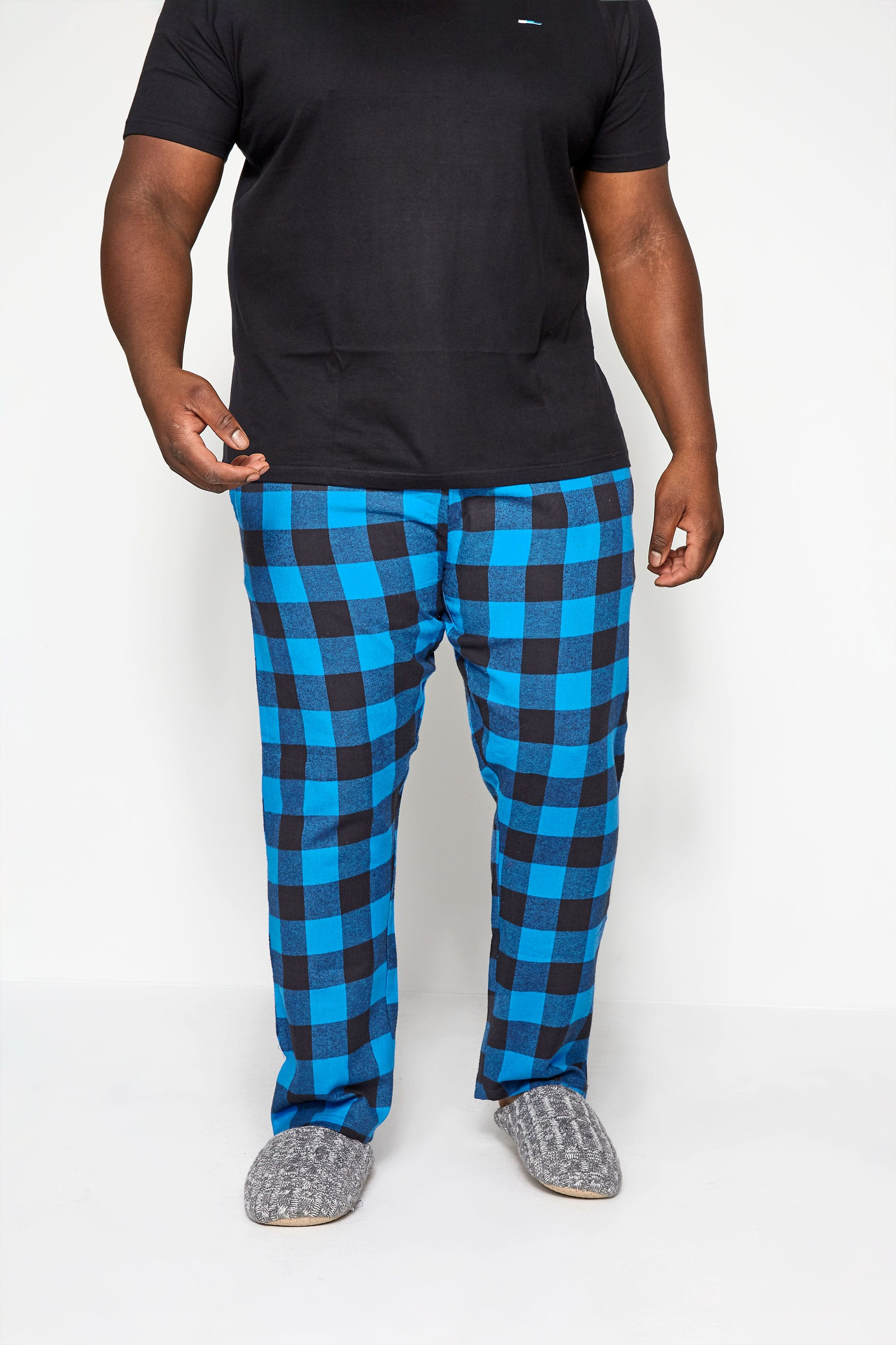 BadRhino Blue Woven Check Bottoms