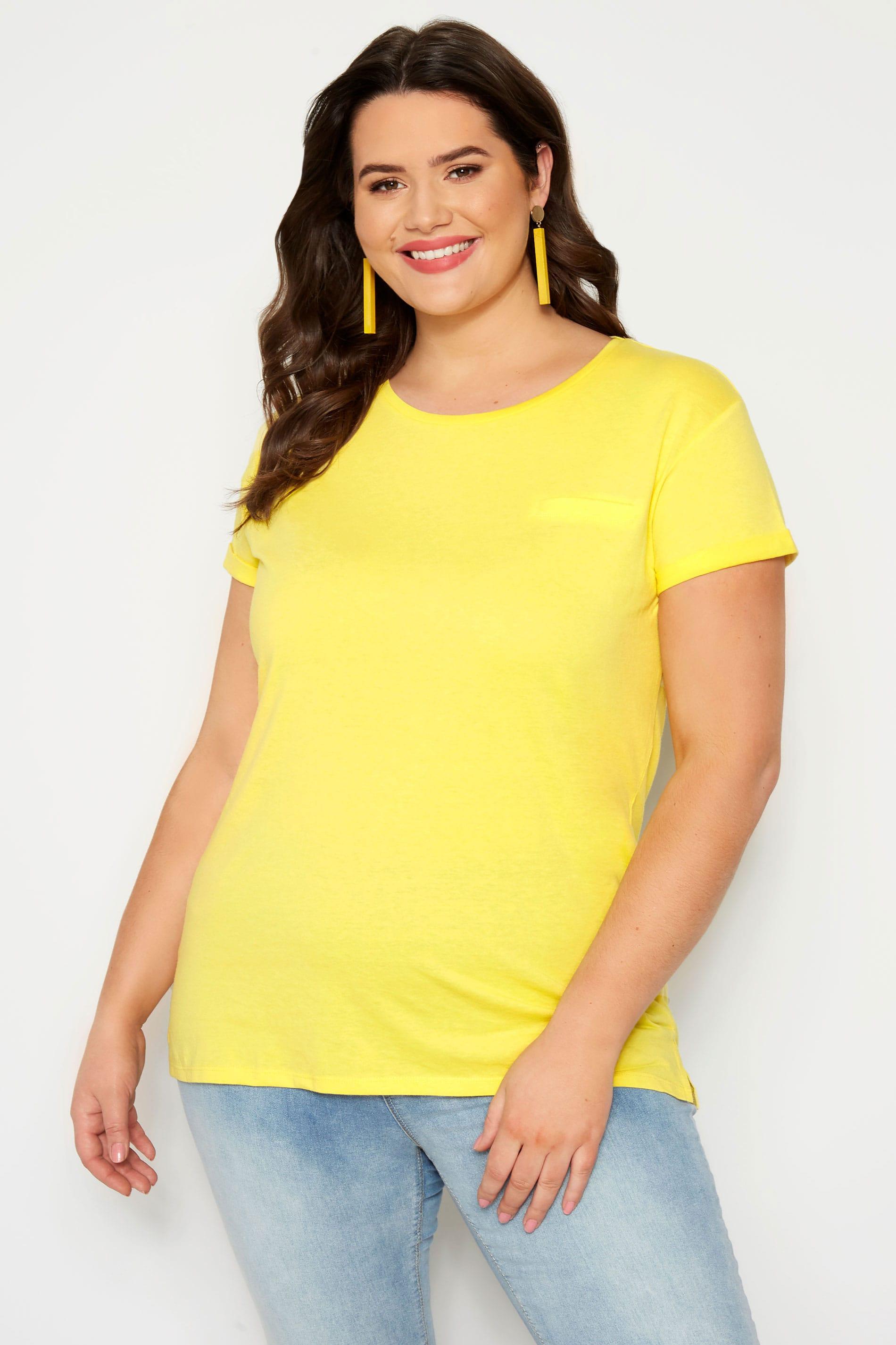 Yellow Mock Pocket T-Shirt