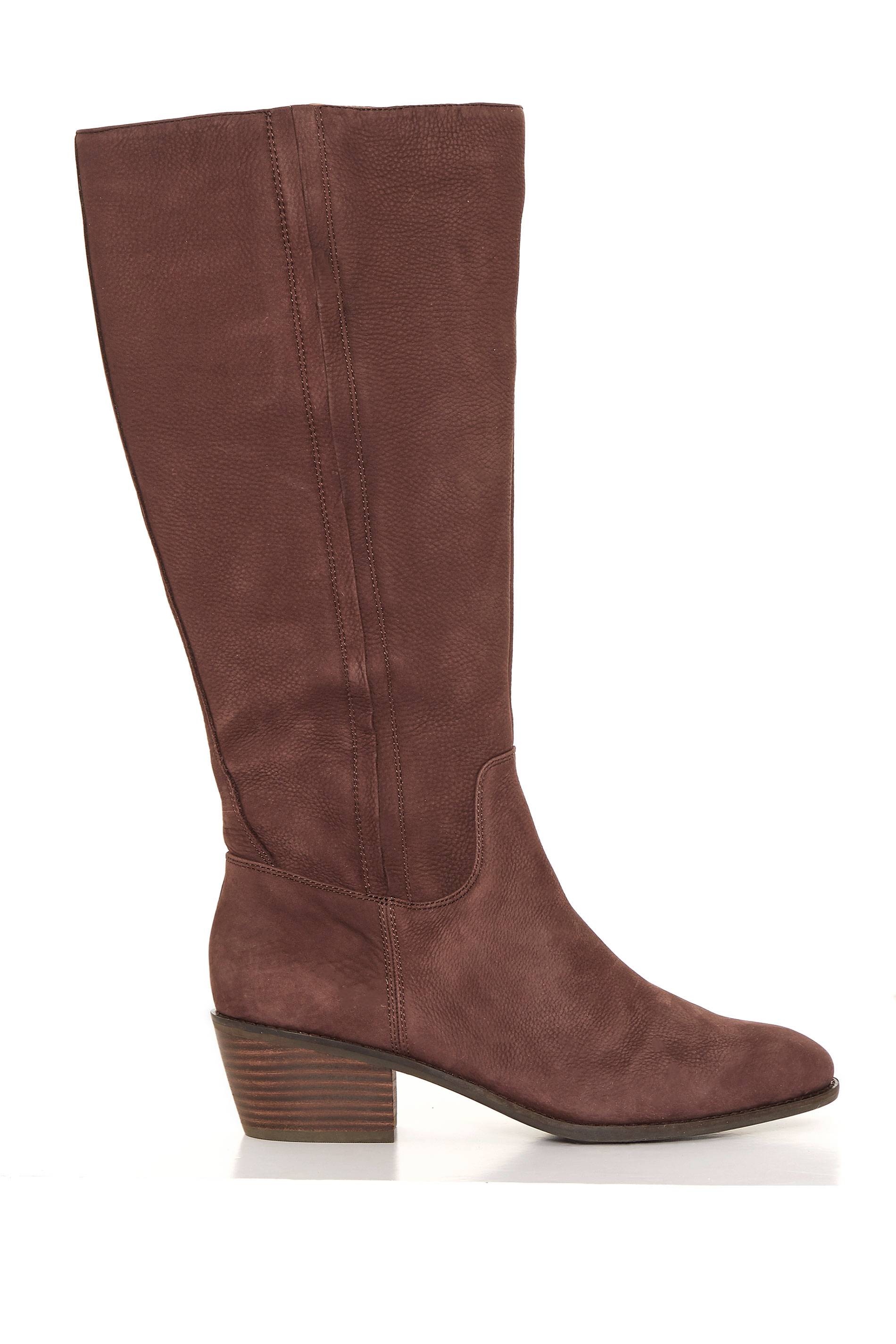 LUCKY BRAND Brown Leather Knee High Heeled Boots