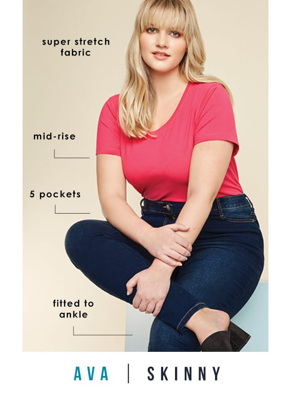 Plus Size Skinny Jeans >