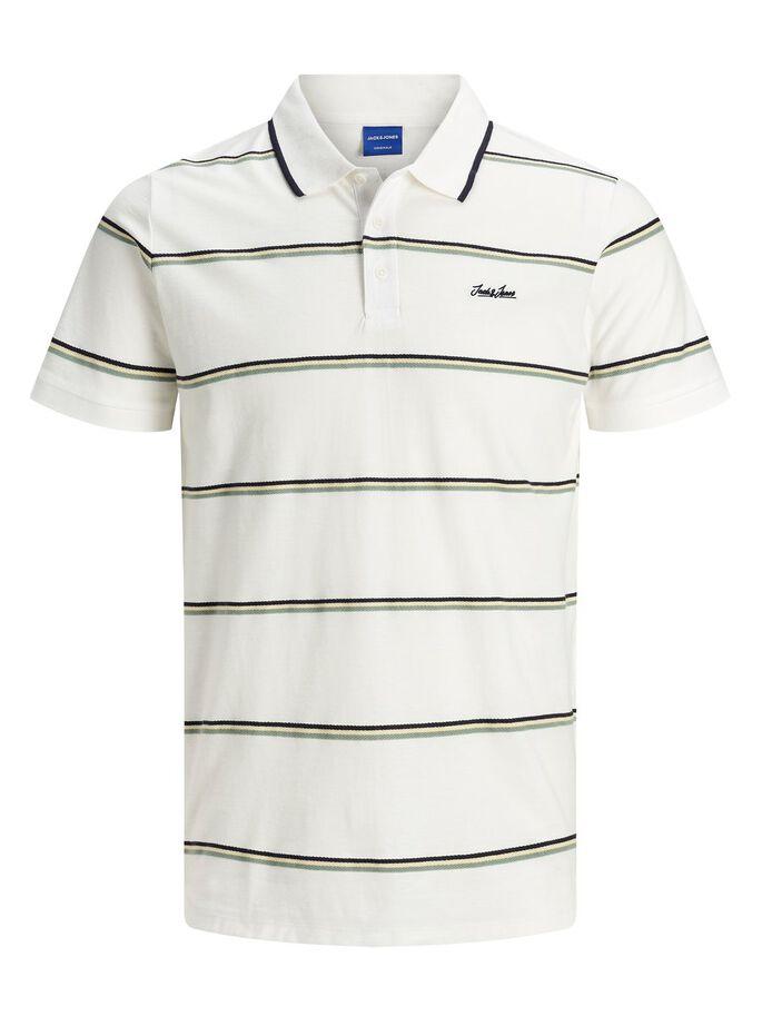 JACK & JONES White Stripe Harry Polo Shirt