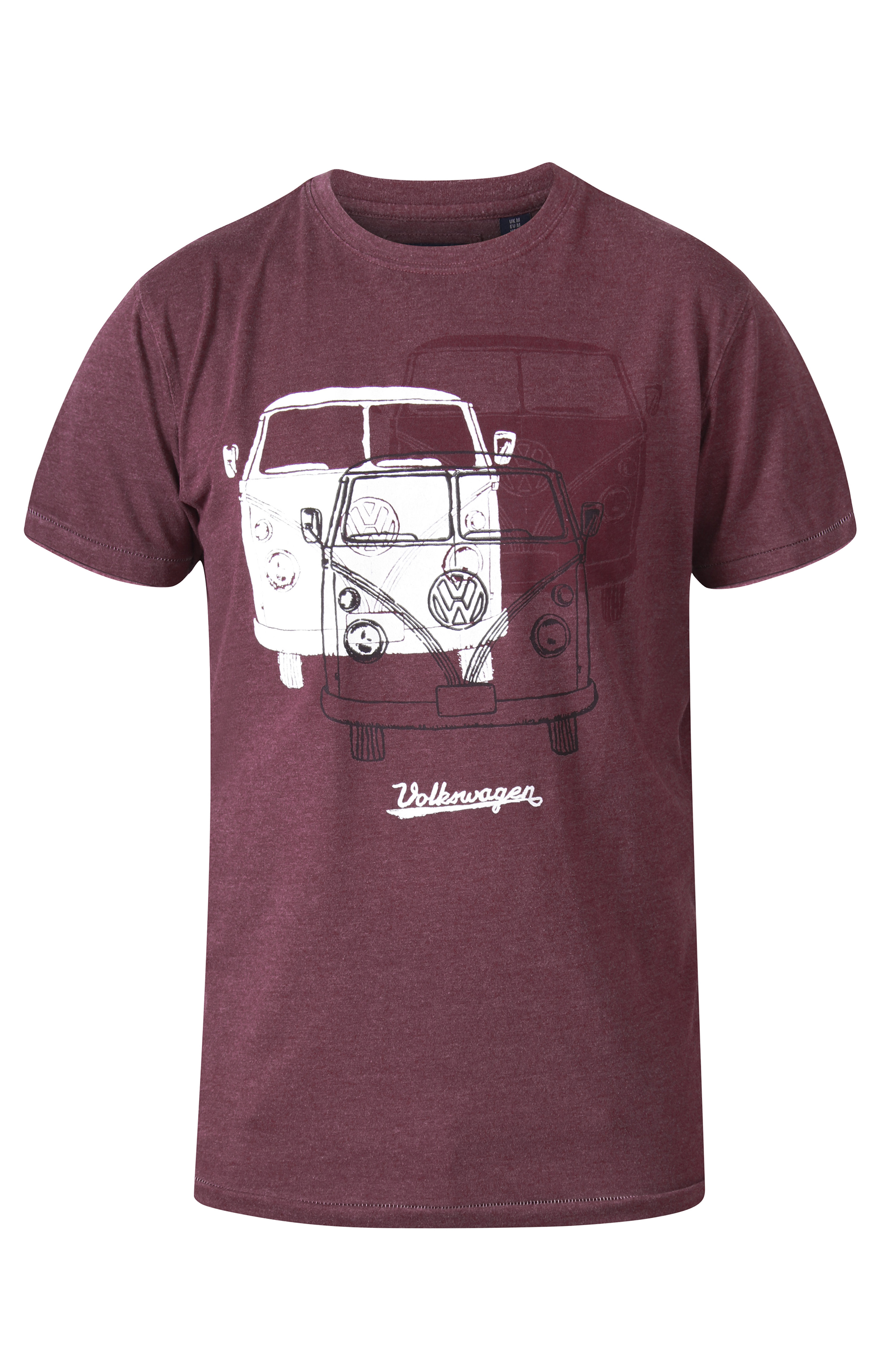 D555 Red Trio Campervan Printed T-Shirt