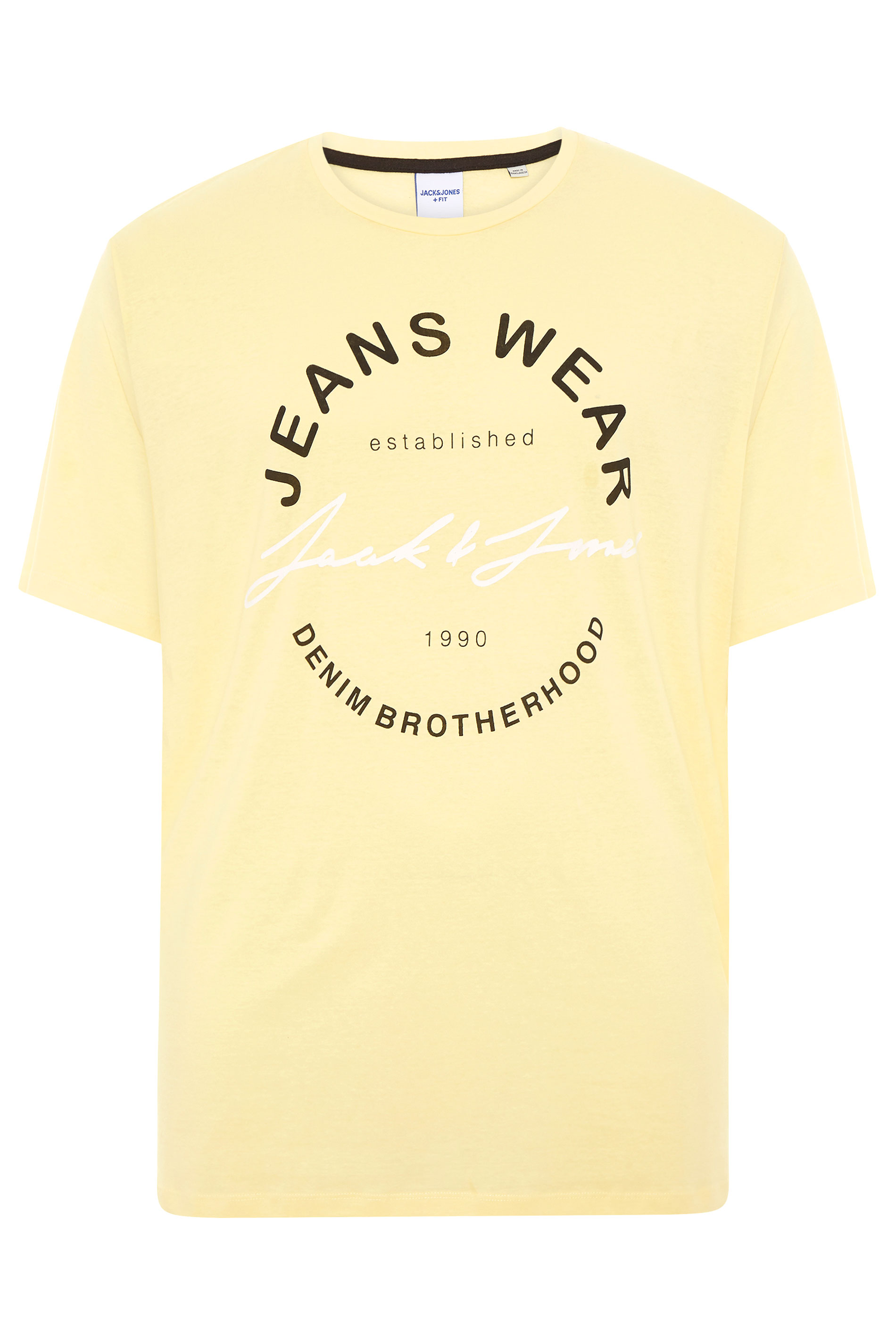 JACK & JONES Yellow Moon Logo T-Shirt