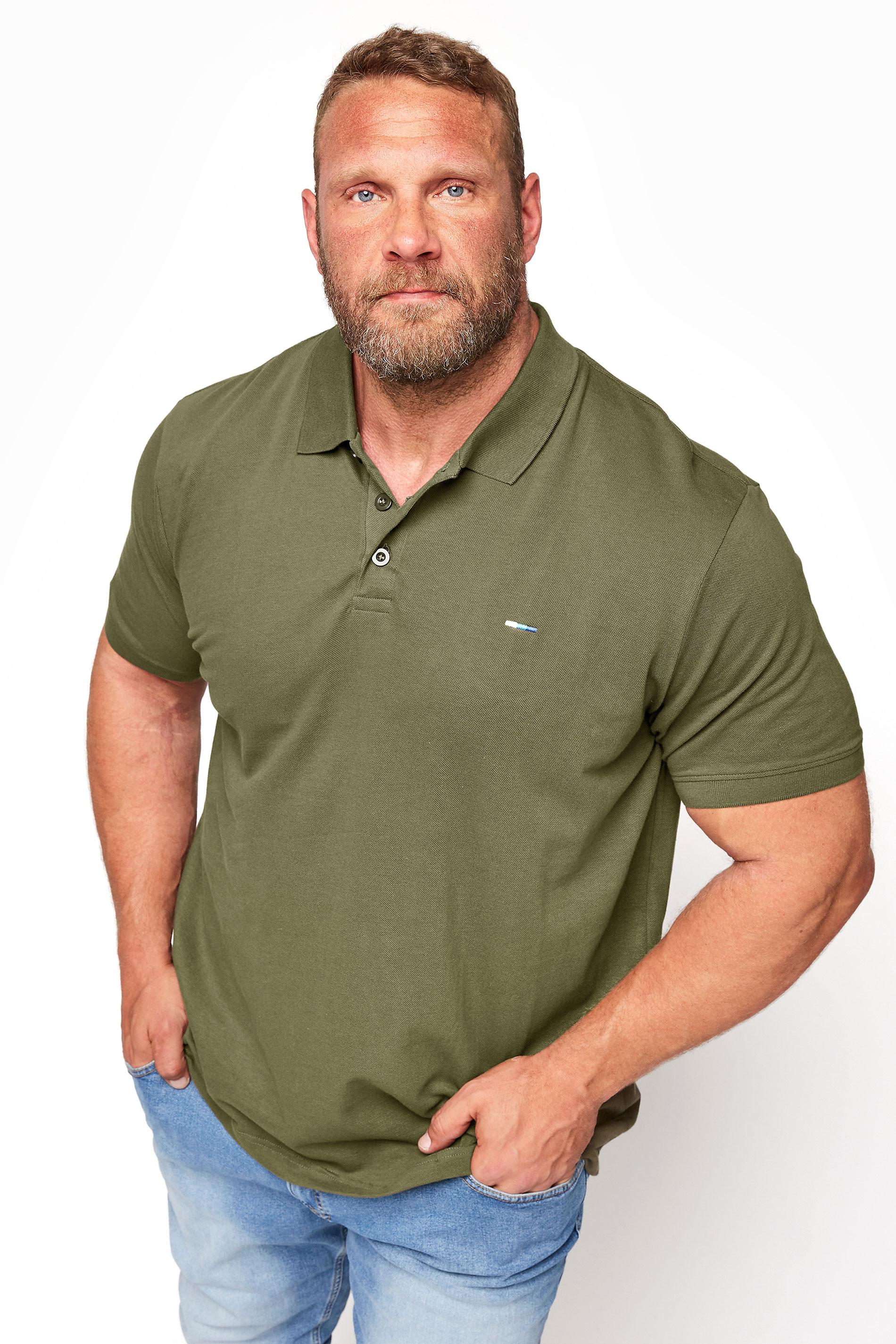 BadRhino Khaki Essential Polo Shirt_M.jpg