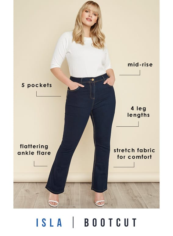 Plus Size Bootcut Jeans >