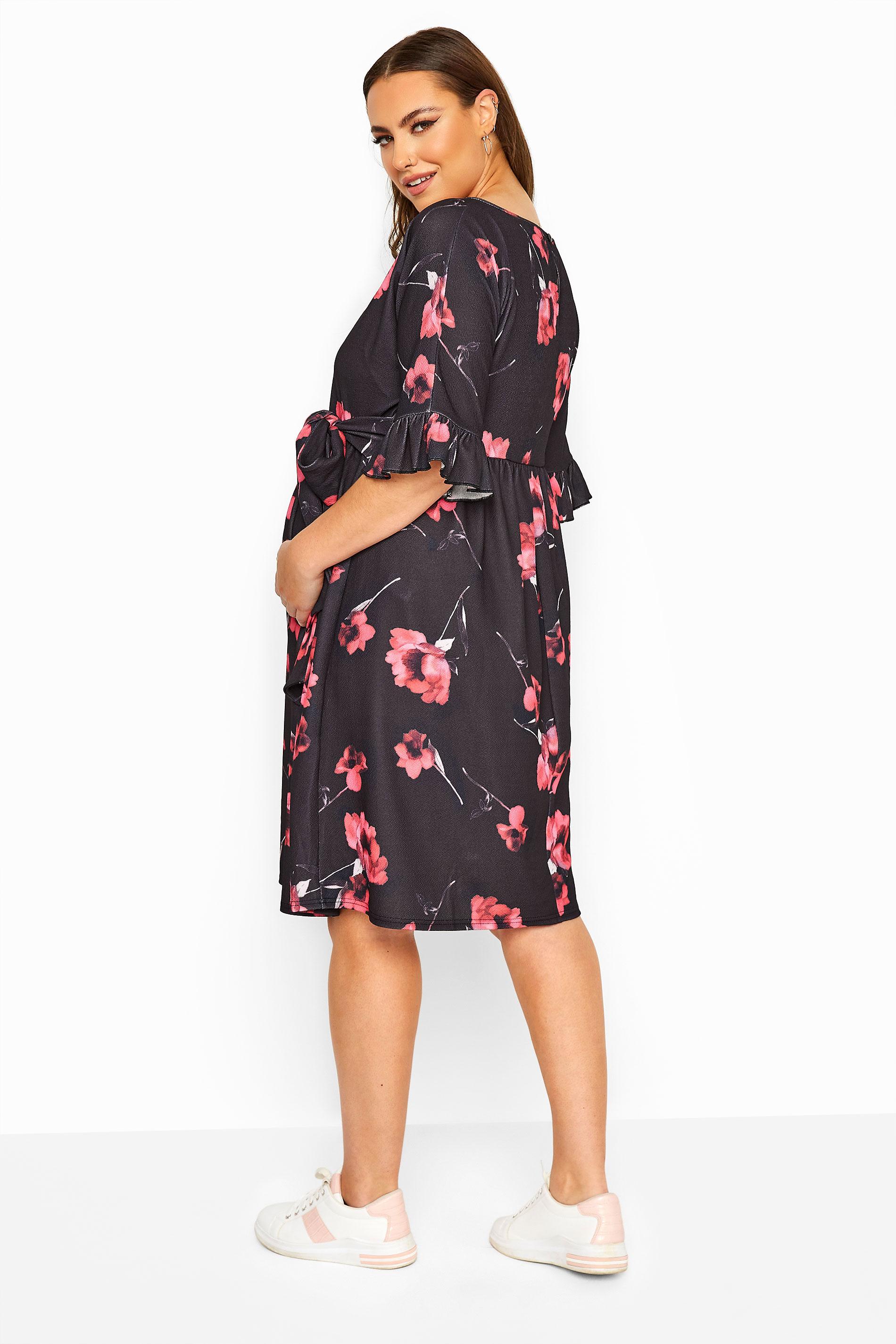 Bump It Up Black 3//4 Sleeves Wrap Maternity Dress Plus Size 18 to 24 BNWT