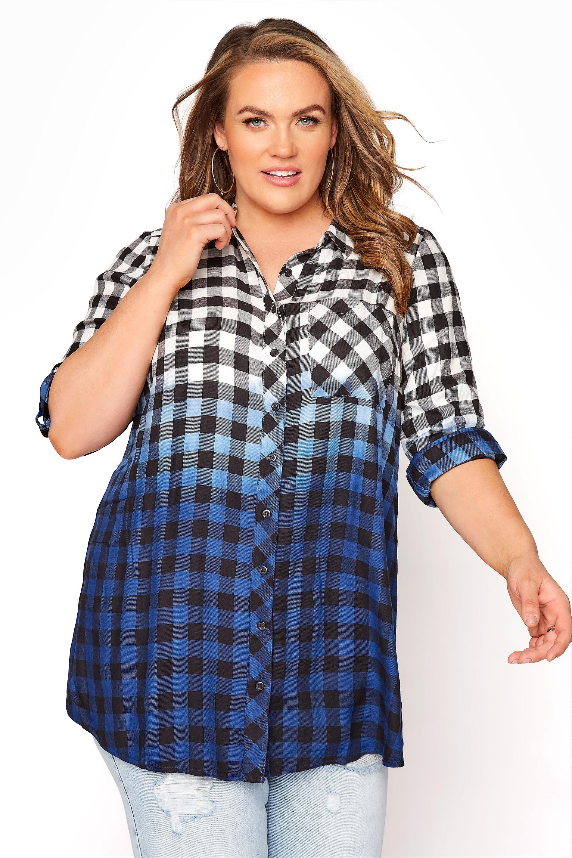 Blue Ombre Check Boyfriend Shirt_A.jpg